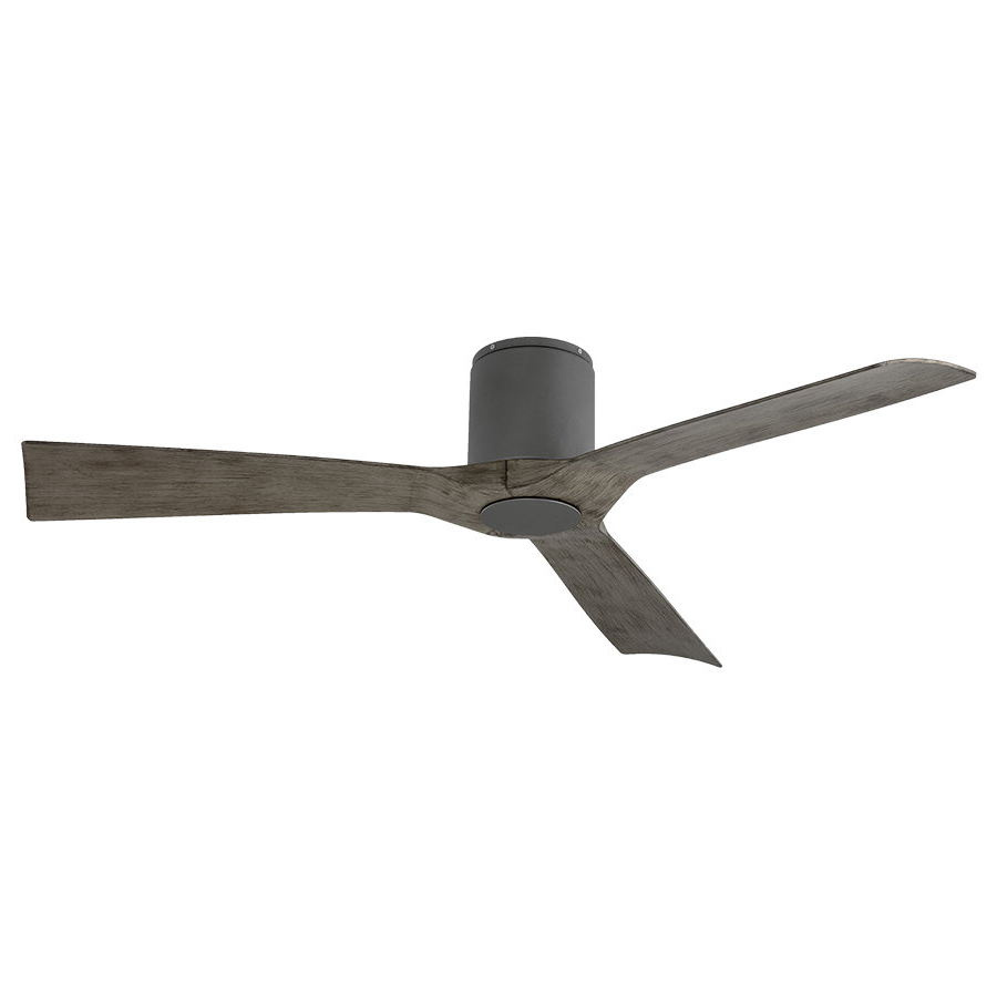 "Most Recently Released 54"" Aviator 3 Blade Outdoor Led Ceiling Fan With Remote Within Hedin 3 Blade Hugger Ceiling Fans (View 15 of 20)"