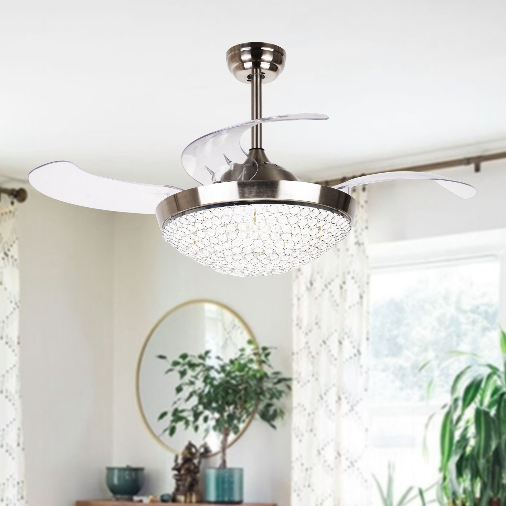 Most Recently Released Broxburne 4 Blade Led Ceiling Fans With Remote With  (View 18 of 20)
