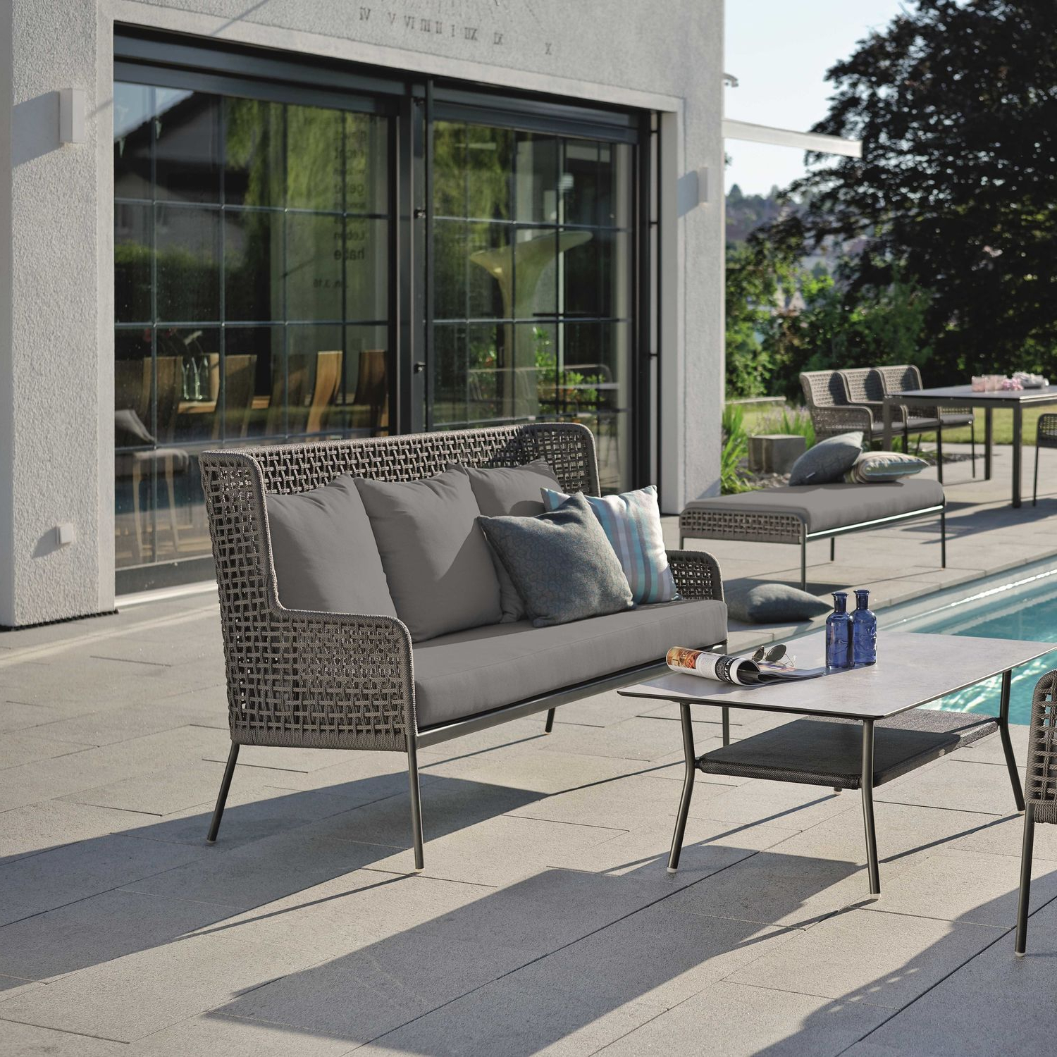 Most Recently Released Contemporary Sofa / Outdoor / Acrylic Fabric / Aluminium Inside Greta Living Patio Sectionals With Cushions (View 20 of 20)