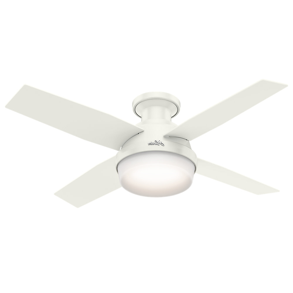 "Most Recently Released Dempsey 4 Blade Ceiling Fans With Details About Hunter Dempsey 44 Led Low Profile Dempsey 44"" 4 Blade Led Indoor Ceiling Fan (View 4 of 20)"