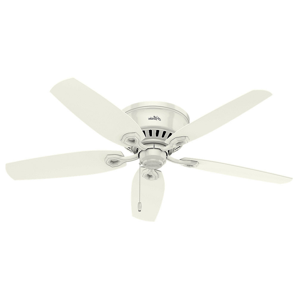 """Most Recently Released Details About Hunter Builder 52 Low Profile 52"""" Indoor Ceiling Fan – 5 Reversible Blades And Inside Builder Low Profile 5 Blade Ceiling Fans (View 19 of 20)"""