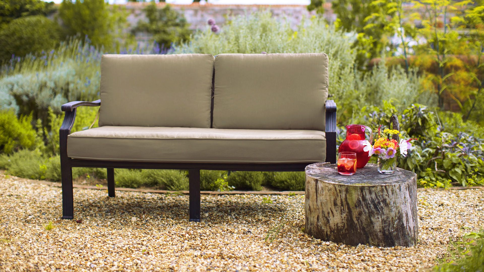 Most Recently Released Prospect Hill Wicker Settee Benches With Regard To Jamie Oliver Bench – Jamie Oliver – Cast Aluminium Garden (View 8 of 20)