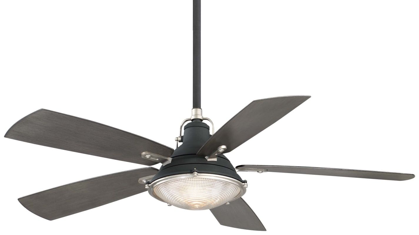 "Most Recently Released Rainman 5 Blade Outdoor Ceiling Fans Pertaining To Minkaaire Groton 56"" 5 Blade Indoor / Outdoor Ceiling Fan (View 15 of 20)"