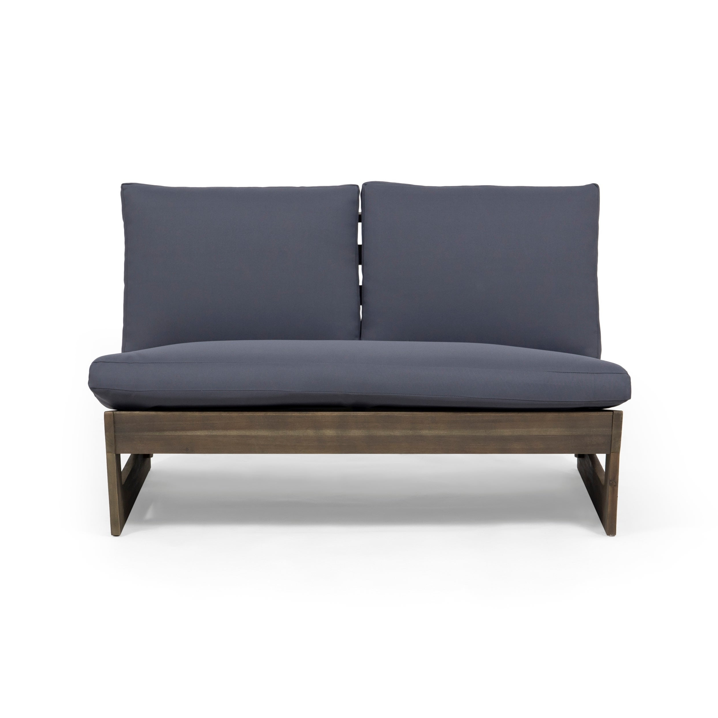 Most Recently Released Sherwood Outdoor Acacia Wood Loveseat With Cushionschristopher Knight  Home For Calvin Patio Loveseats With Cushions (View 16 of 20)