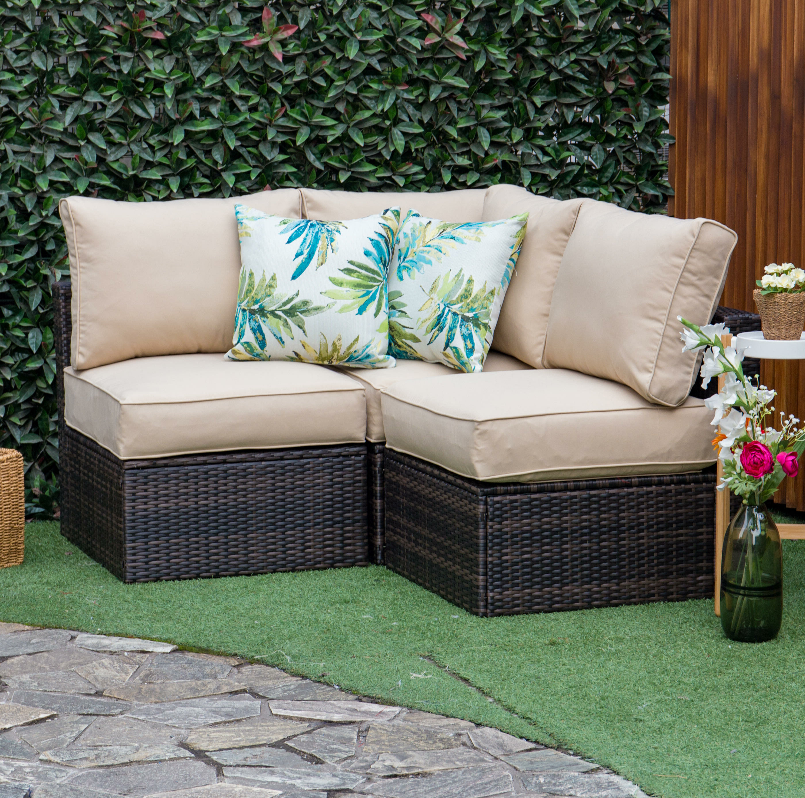 Most Recently Released Wrobel Patio Sectionals With Cushion Throughout Modular Outdoor Sectional You'll Love In (View 7 of 20)
