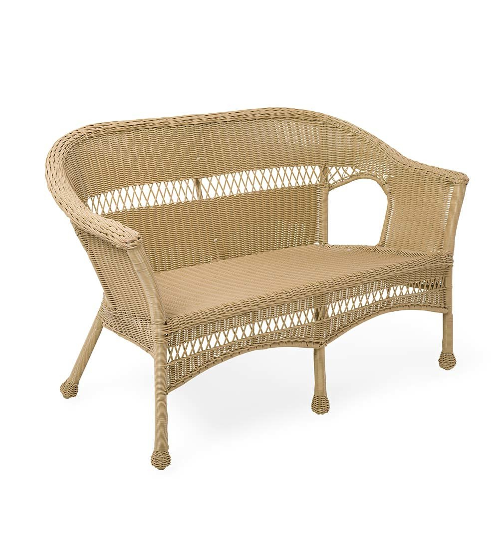 Most Up To Date Easy Care Loveseat Intended For Karan Wicker Patio Loveseats (View 12 of 20)