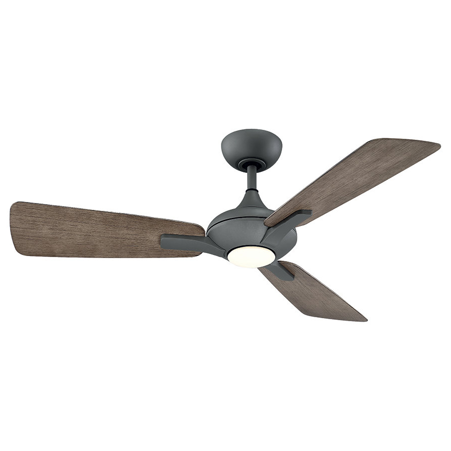 "Most Up To Date Hemsworth 4 Blade Ceiling Fans Pertaining To 52"" Mykonos 3 Blade Outdoor Led Ceiling Fan (View 15 of 20)"