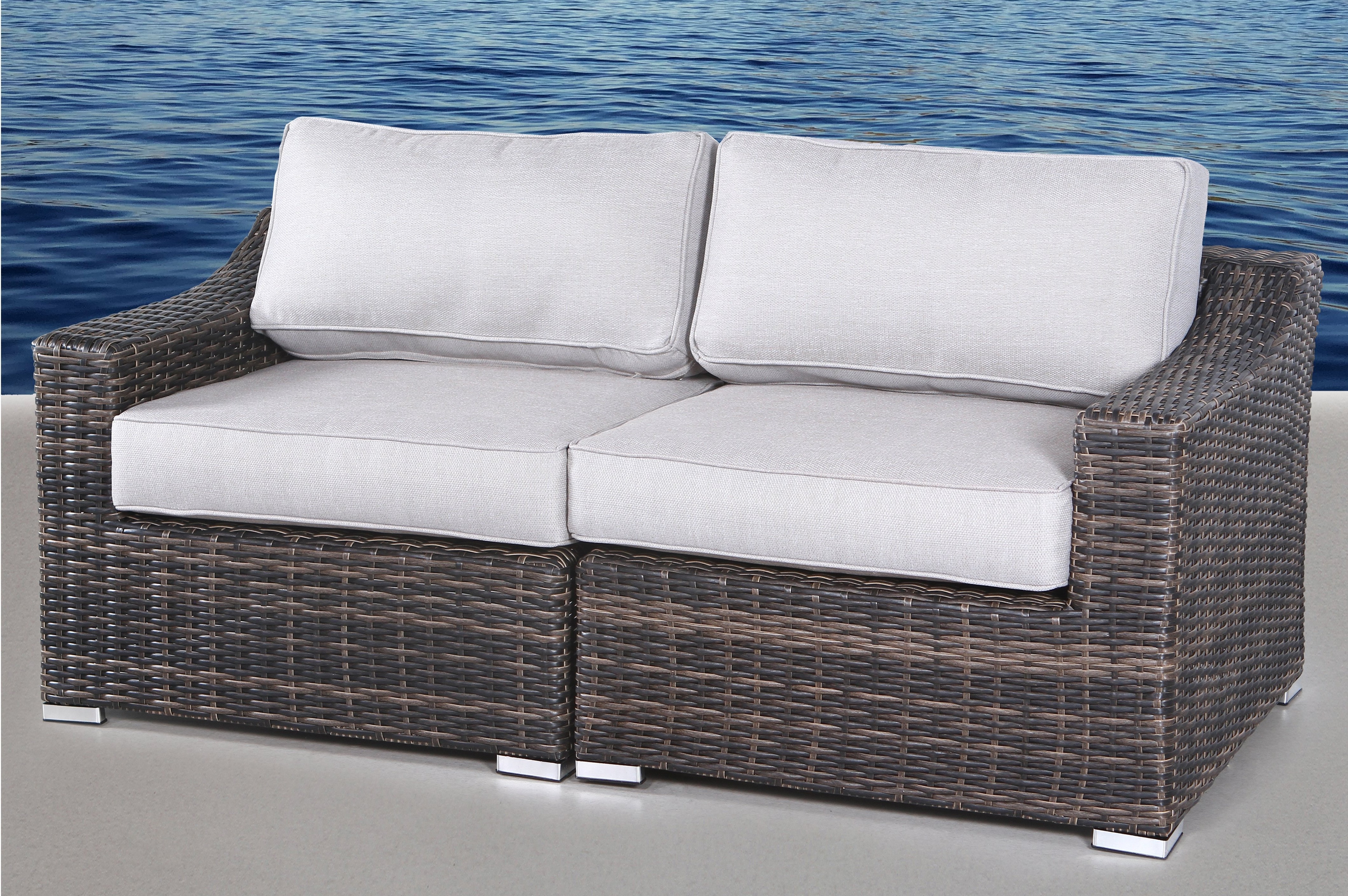 Most Up To Date Provencher Patio Loveseats With Cushions Pertaining To Huddleson Loveseat With Cushion (View 8 of 20)