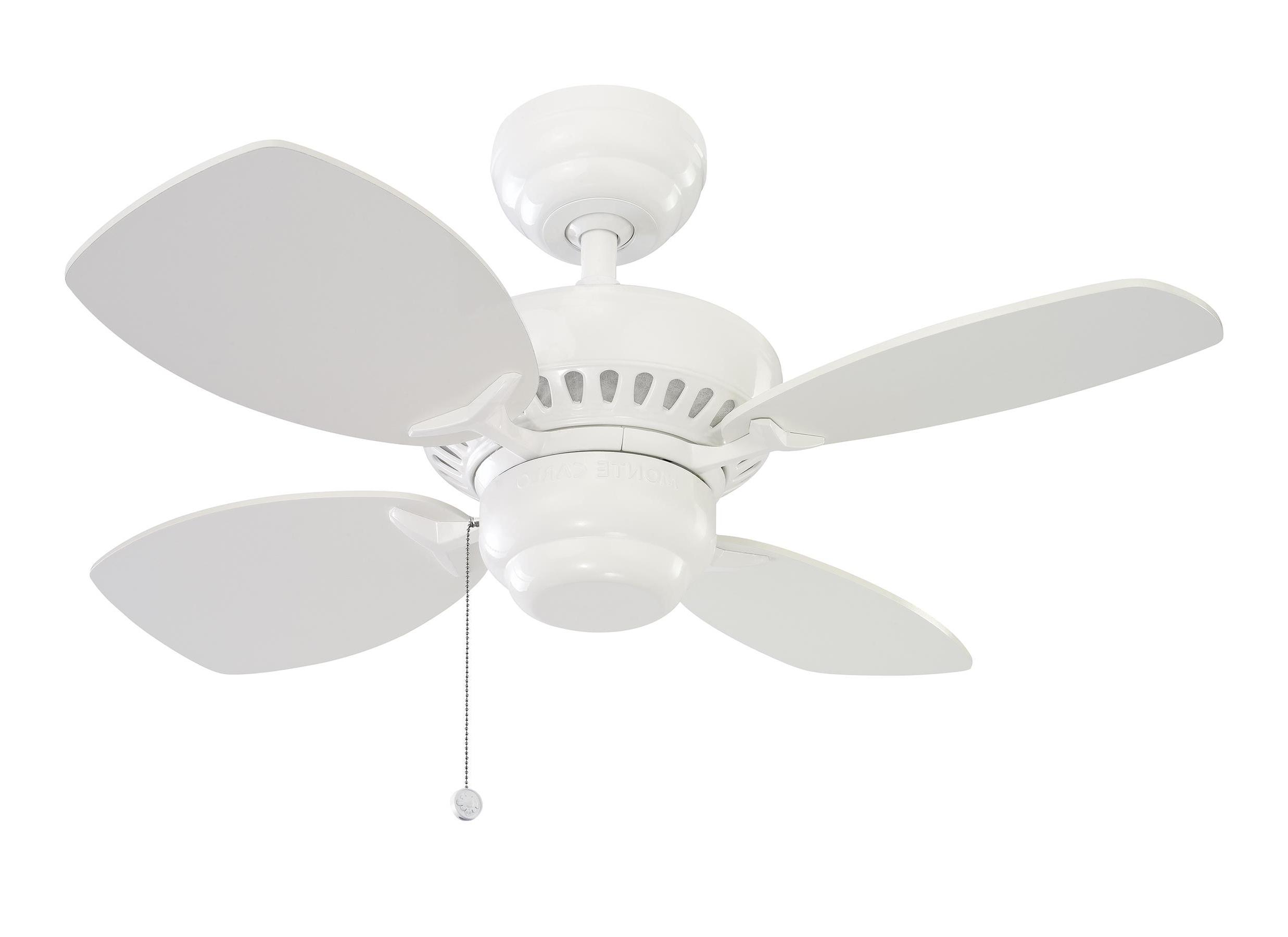 "Most Up To Date Stewardson 4 Blade Ceiling Fans Intended For 4Co28Wh,28"" Colony Ii Fan – White,white (View 4 of 20)"