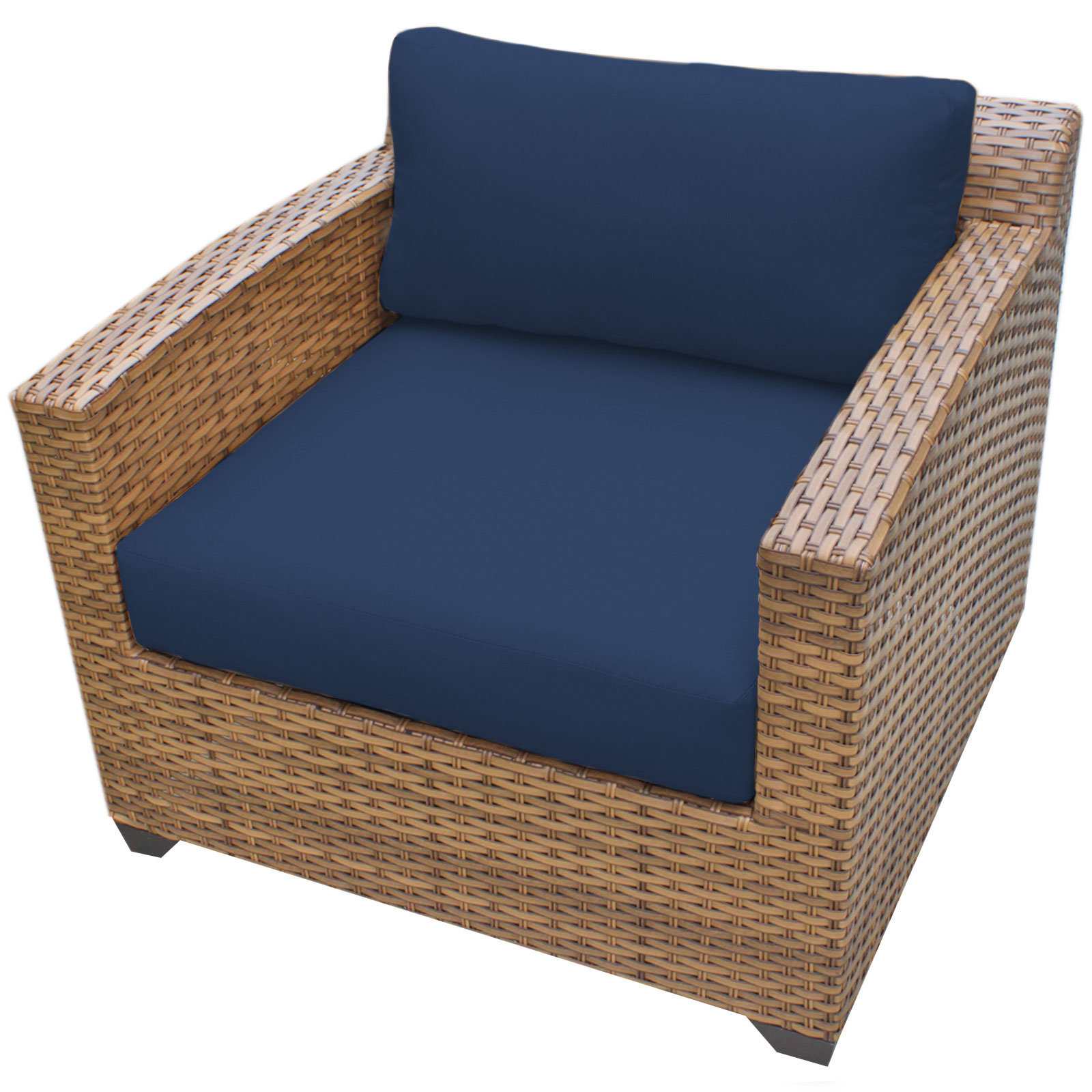 Most Up To Date Waterbury Patio Chair With Cushions Intended For Waterbury Curved Armless Sofa With Cushions (View 6 of 20)