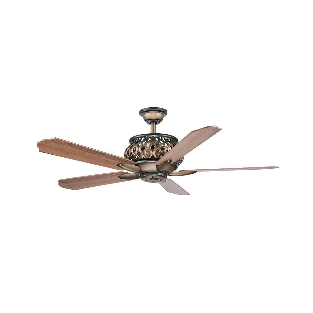 "Most Up To Date Wind River Wr1431 Estela 52"" 5 Blade Hanging Indoor Ceiling Fan With Reversible Motor, Blades, And Remote Included With Regard To The Kensington 5 Blade Ceiling Fans (View 16 of 20)"