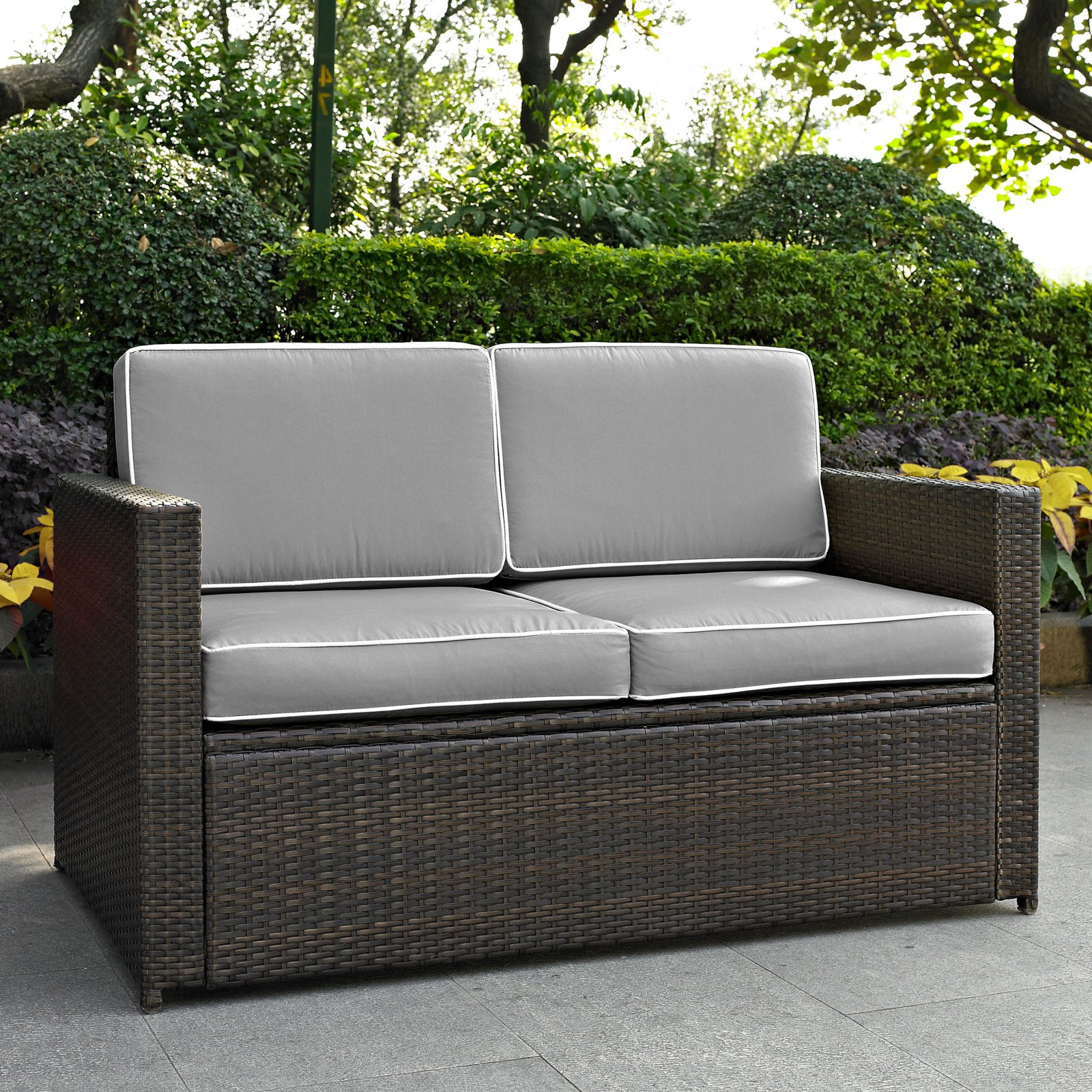 Mullenax Outdoor Loveseats With Cushions In Trendy Outdoor Crosley Furniture Palm Harbor All Weather Wicker (View 8 of 20)