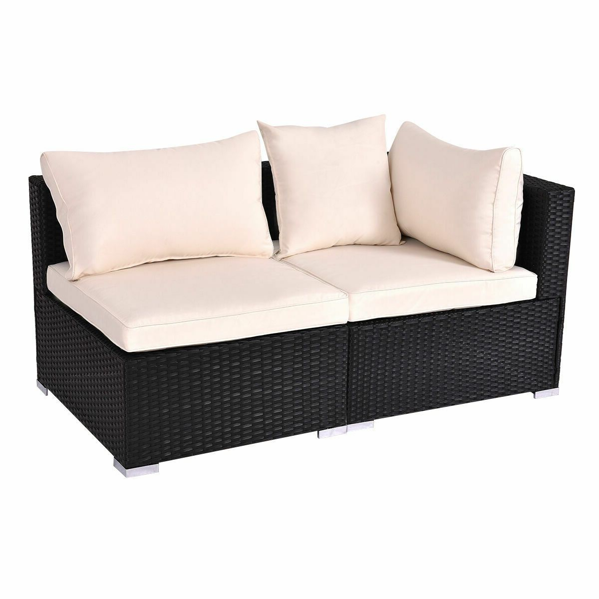 Mullenax Outdoor Loveseats With Cushions Inside Most Recently Released Outdoor Patio Rattan Furniture Set Infinitely Combination (View 7 of 20)