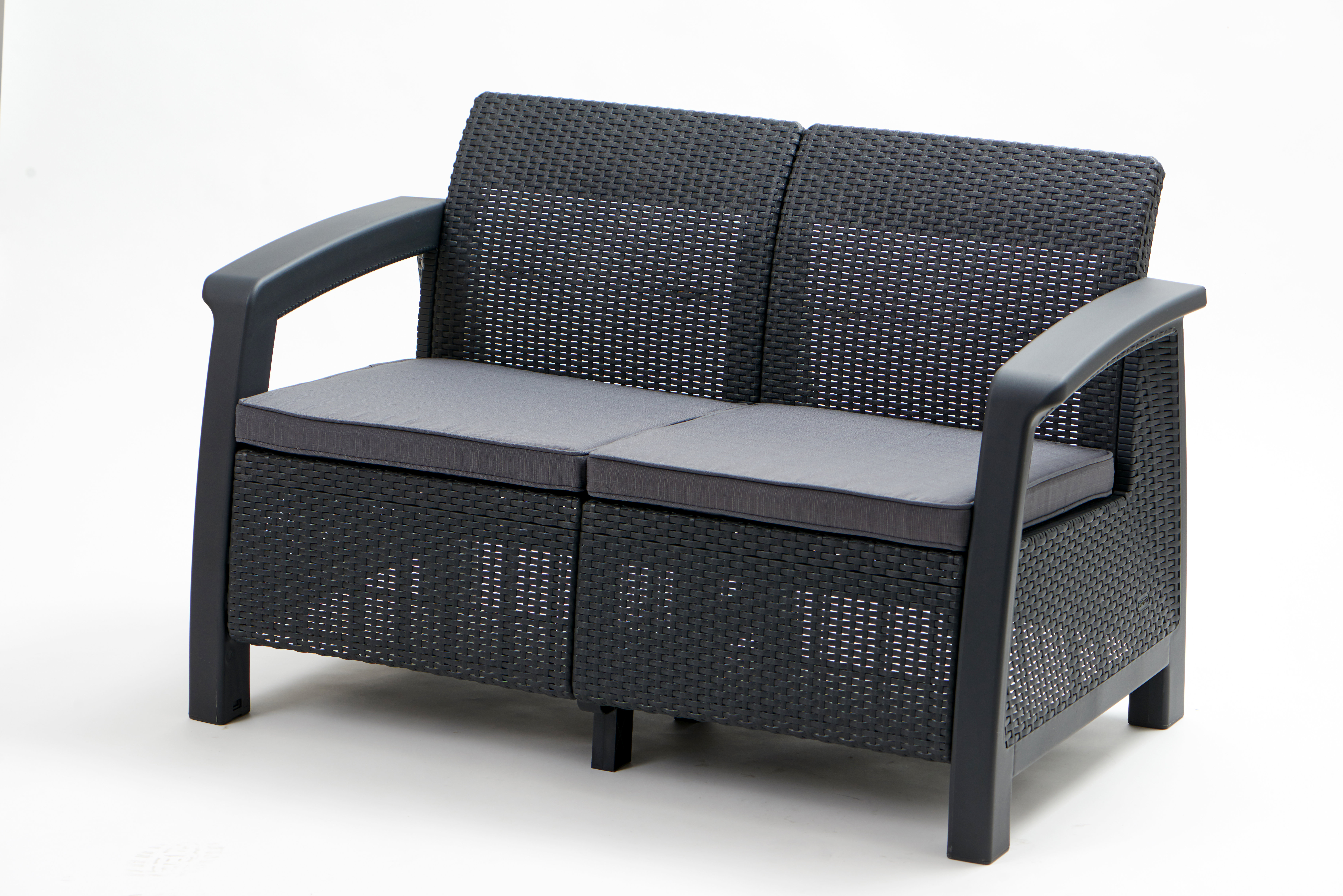 Mullenax Outdoor Loveseats With Cushions Pertaining To Well Known Berard Patio Loveseat With Cushions (View 8 of 20)