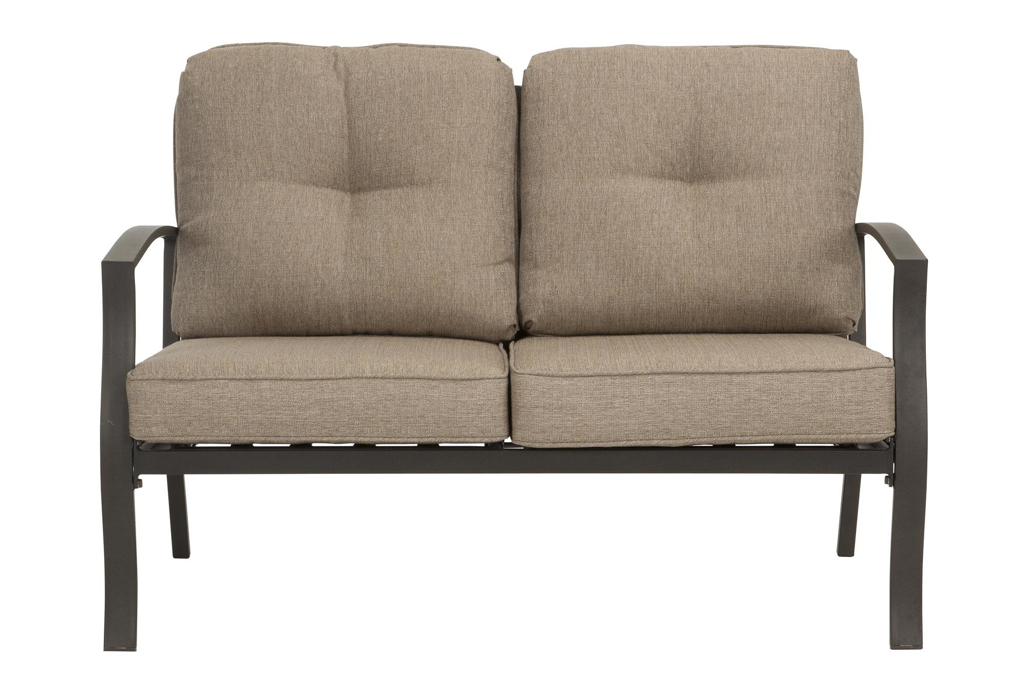Nadine Loveseats With Cushions Pertaining To Most Popular Huckstep Aluminum Loveseat With Cushions (View 13 of 20)