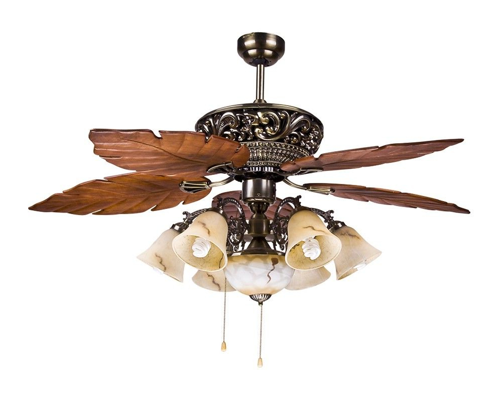 Napoli 5 Blade Led Ceiling Fans Inside Fashionable Large Tropical Ceiling Fan Light With 5 Maple Leaves Blade (View 16 of 20)