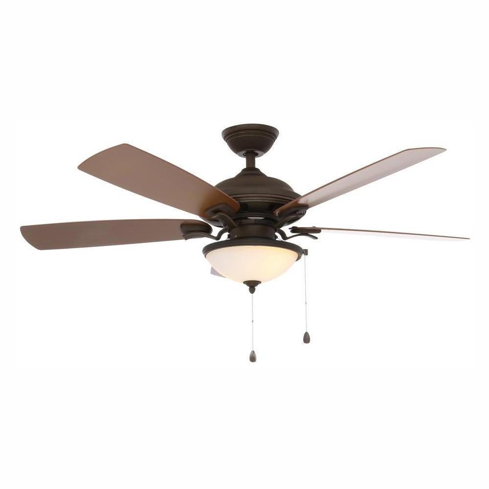 Napoli 5 Blade Led Ceiling Fans Pertaining To Fashionable Home Decorators Collection North Lake 52 In (View 11 of 20)