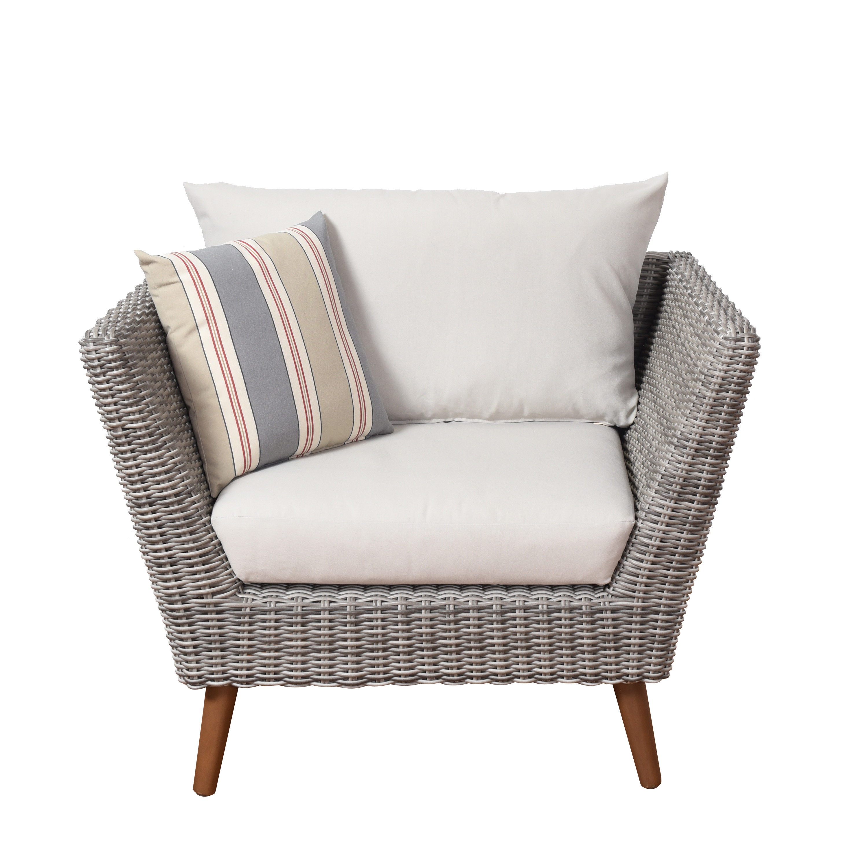 Newbury Patio Chair With Cushions Throughout Most Current Newbury Patio Sofas With Cushions (View 12 of 20)