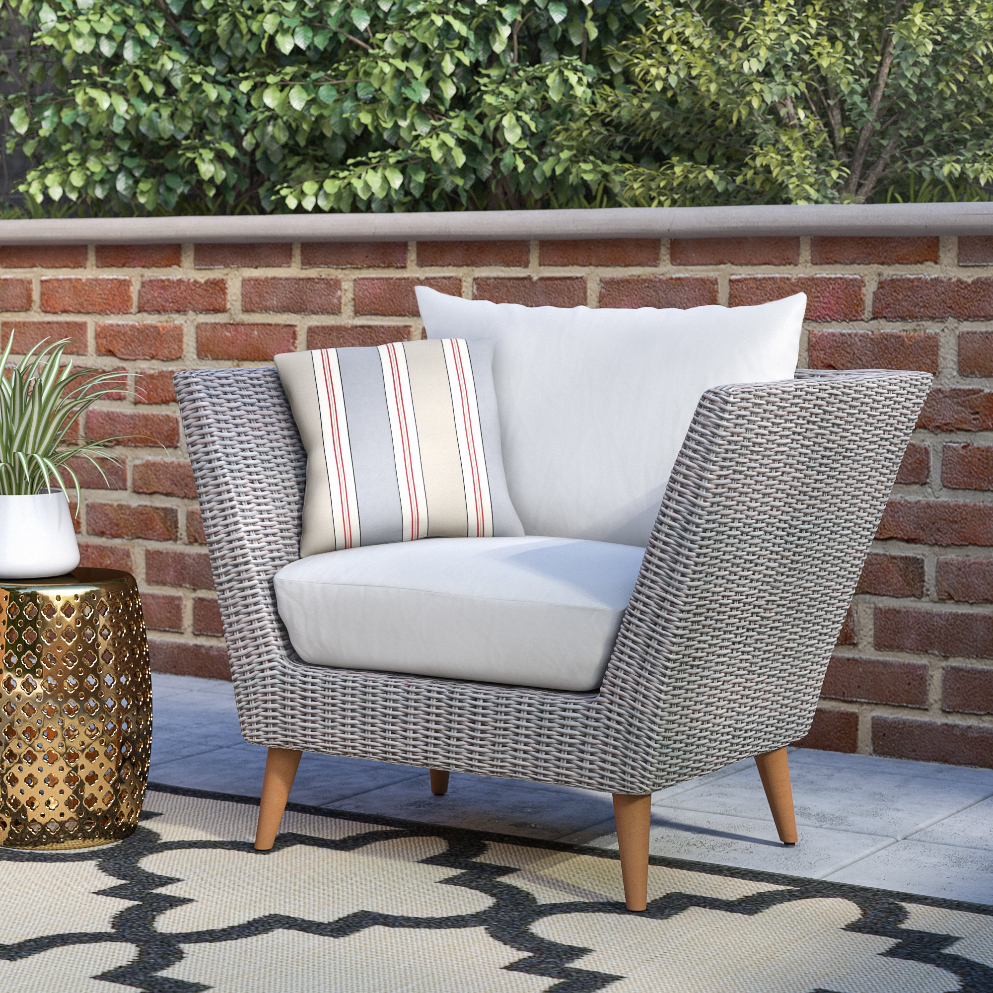 Newbury Patio Sofas With Cushions Throughout 2019 Newbury Patio Chair With Cushions (View 16 of 20)