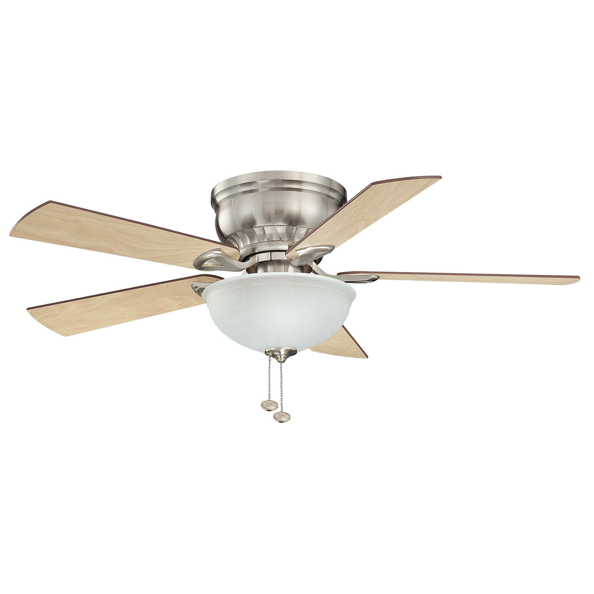 """Newest 44"""" Scruggs Flushmount 5 Blade Ceiling Fan, Light Kit With Regard To Eliora 5 Blade Ceiling Fans (View 18 of 20)"""