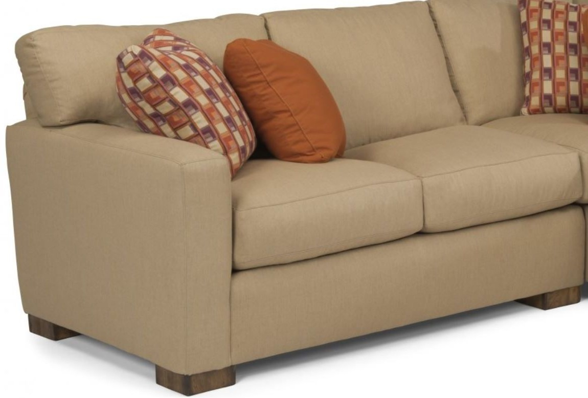 Newest Bryant Loveseats With Cushion In Flexsteel® Bryant Fabric Right Arm Facing Loveseat 7399  (View 14 of 20)