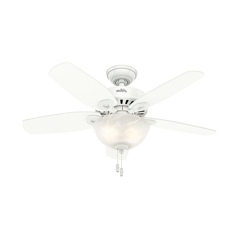 "Newest Builder 5 Blade Ceiling Fans With 42"" Builder 5 Blade Ceiling Fan, Light Kit Included (View 14 of 20)"