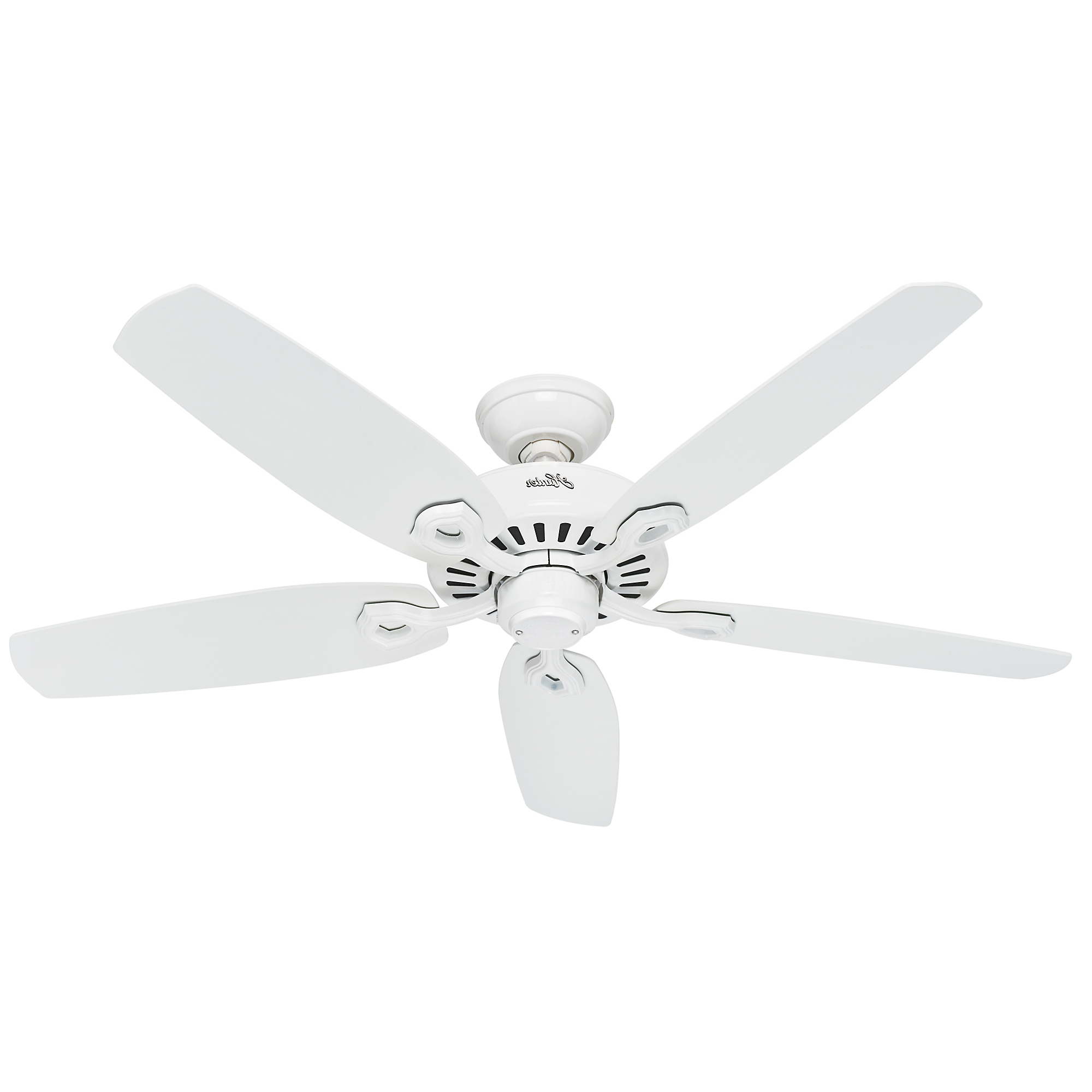 "Newest Builder Elite 5 Blade Ceiling Fans Intended For Hunter 52"" Builder Elite New Bronze Ceiling Fan (View 8 of 20)"
