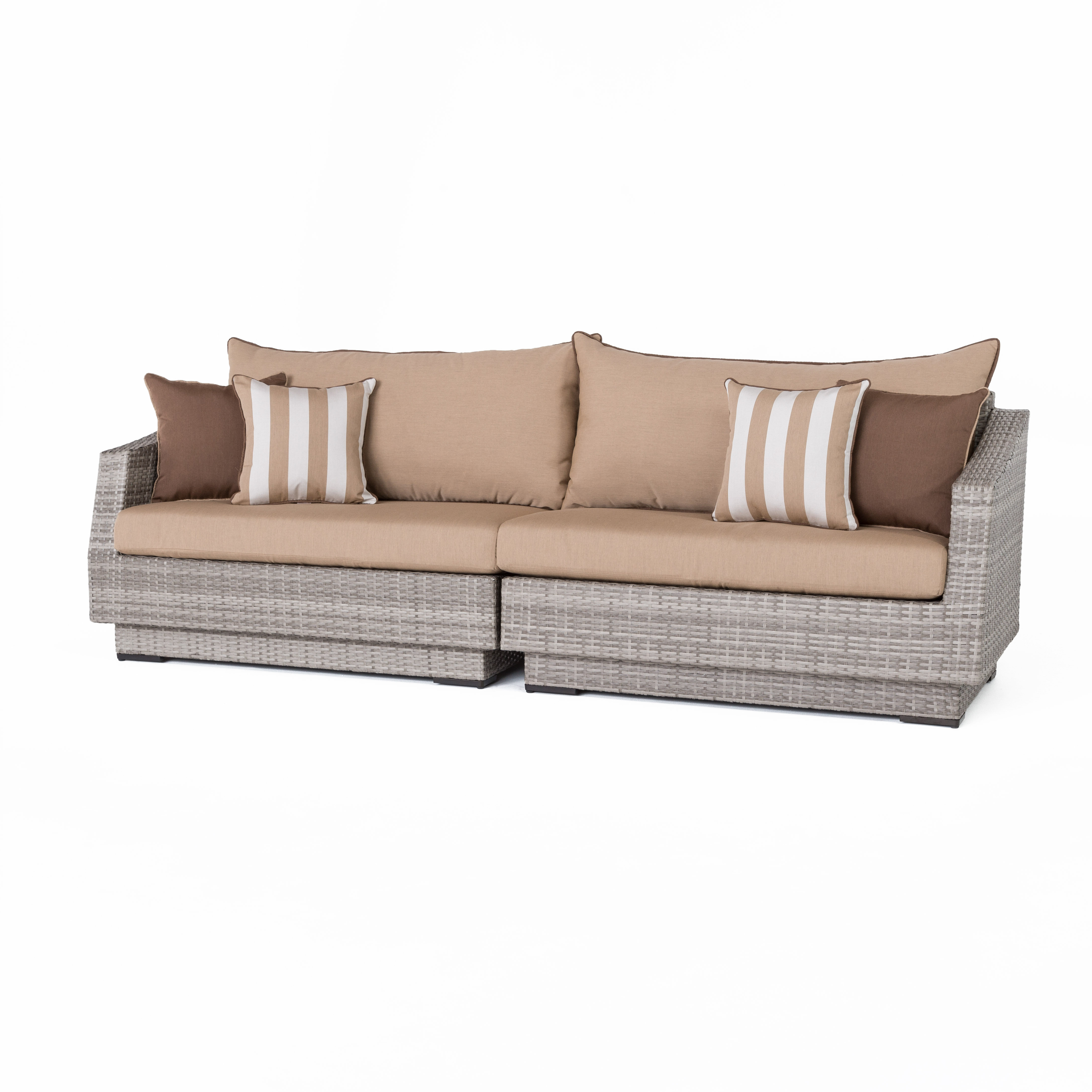 Newest Castelli Patio Sofa With Sunbrella Cushions Inside Castelli Patio Sofas With Sunbrella Cushions (View 16 of 20)