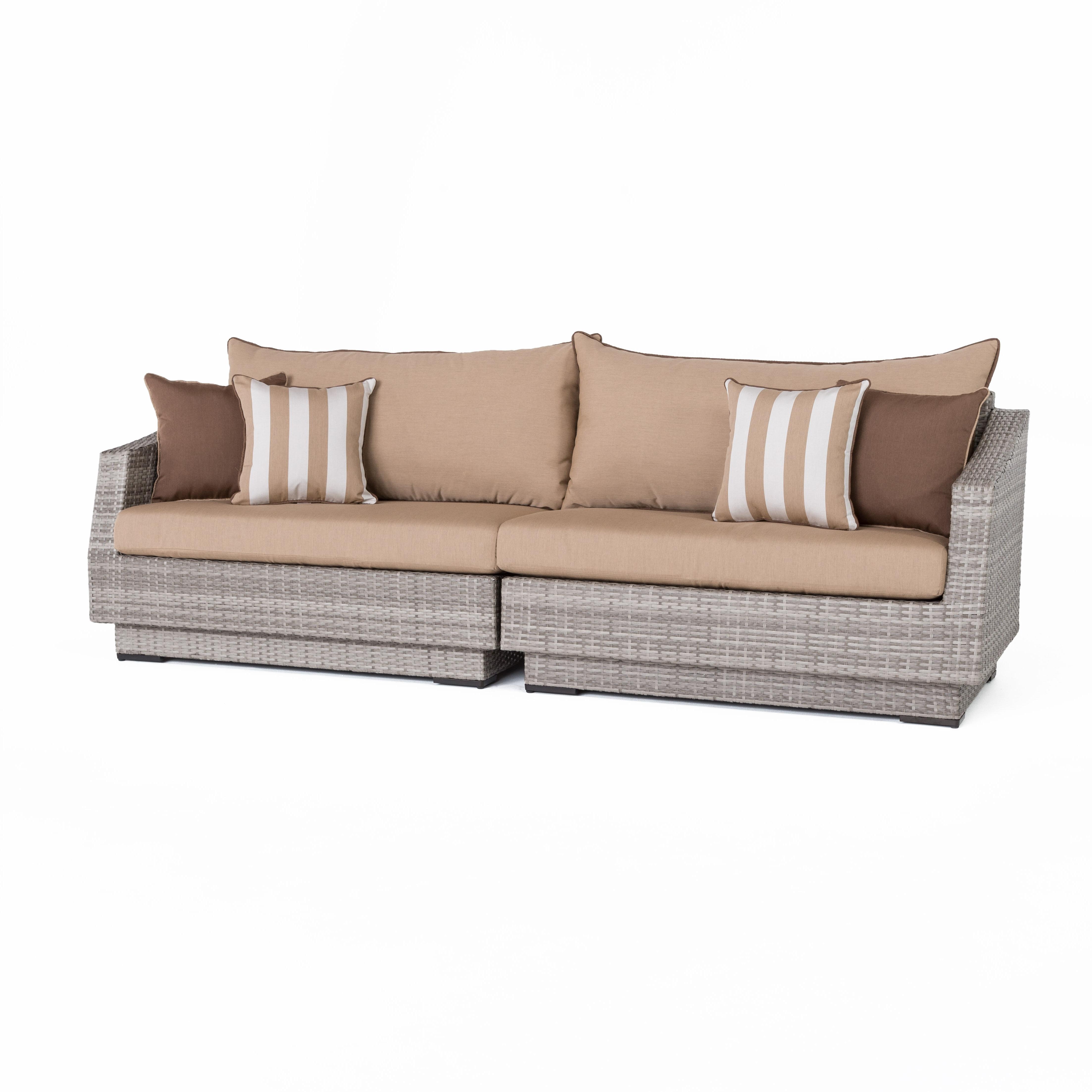 Newest Castelli Patio Sofa With Sunbrella Cushions Inside Castelli Patio Sofas With Sunbrella Cushions (View 16 of 20)