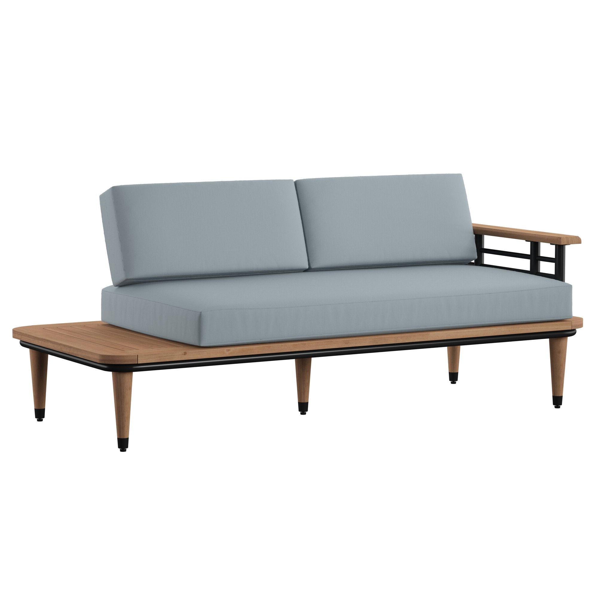 Newest Clary Teak Lounge Patio Daybeds With Cushion With Mercury Row Clary Teak Lounge Patio Daybed With Cushion Spruce (View 3 of 20)