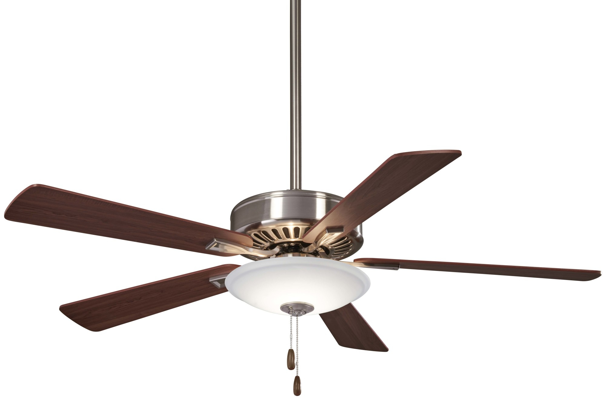 "Newest Details About Minkaaire F656L Bn/dw Contractor 52"" 5 Blade Led Ceiling Fan  W/ Integrated Light In Contractor 5 Blade Ceiling Fans (View 18 of 20)"