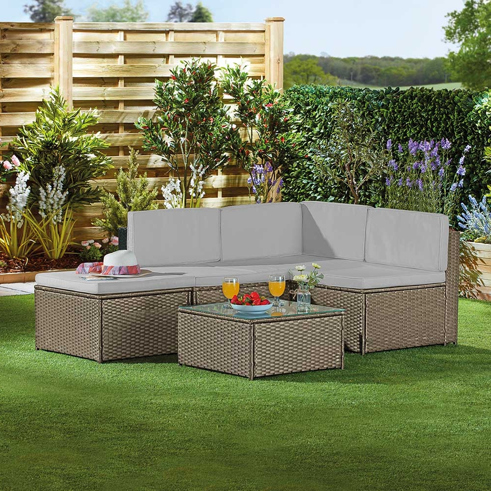 Newest Garden Gear Milan Rattan Lounge Sofa Set (View 14 of 20)
