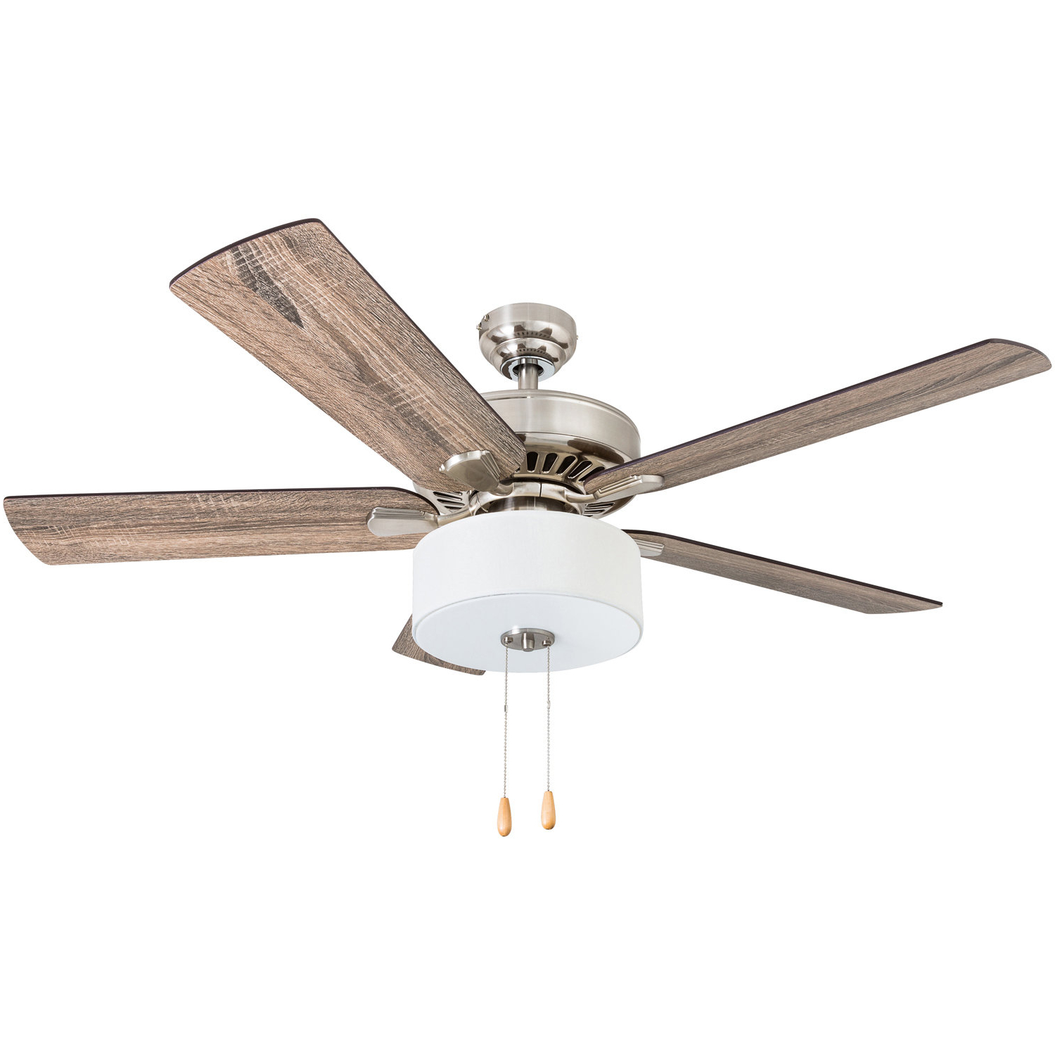 "Newest Hamlett 5 Blade Ceiling Fans Regarding 52"" Pantano 5 Blade Led Ceiling Fan (View 8 of 20)"