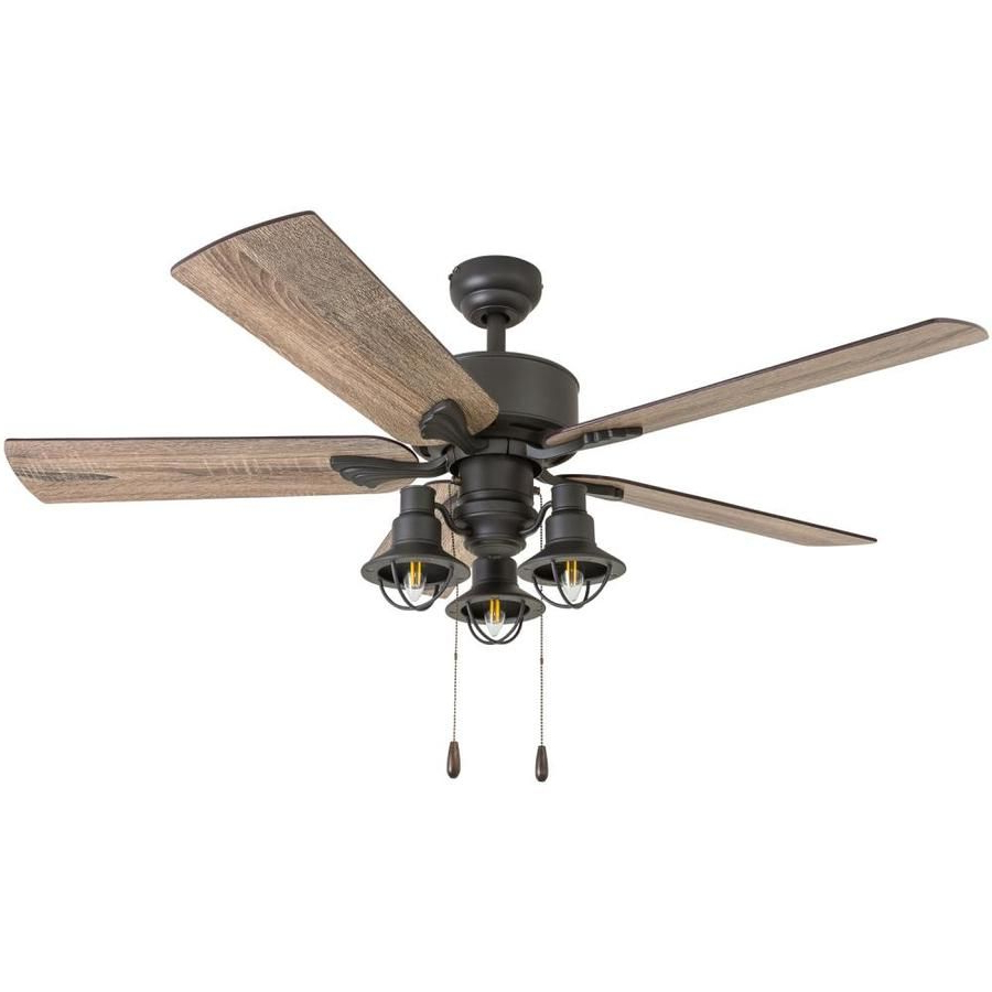 Newest Mattias 5 Blade Ceiling Fans Inside Palm Coast Marlow 52 In Aged Bronze Led Indoor Ceiling Fan (View 17 of 20)