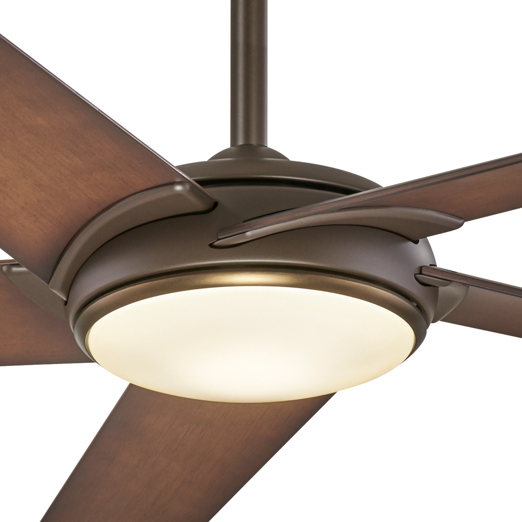 "Newest Minkaaire Raptor 60"" 5 Blade Indoor Ceiling Fan With Integrated Led Light  And Remote With Regard To Raptor 5 Blade Ceiling Fans (View 9 of 20)"