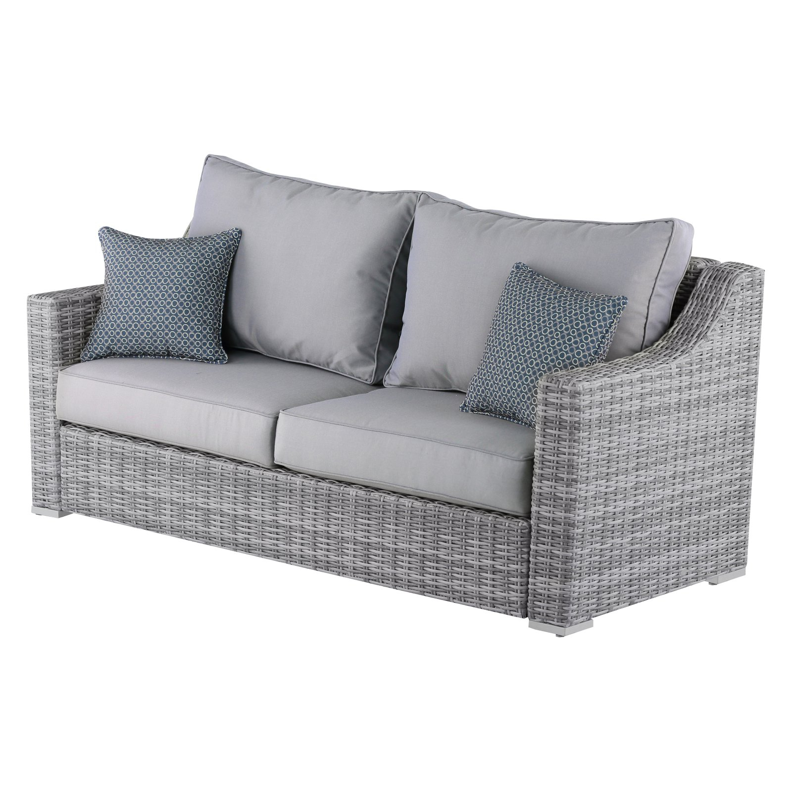 Newest Outdoor Elle Decor Vallauris Wicker Patio Sofa (View 11 of 20)