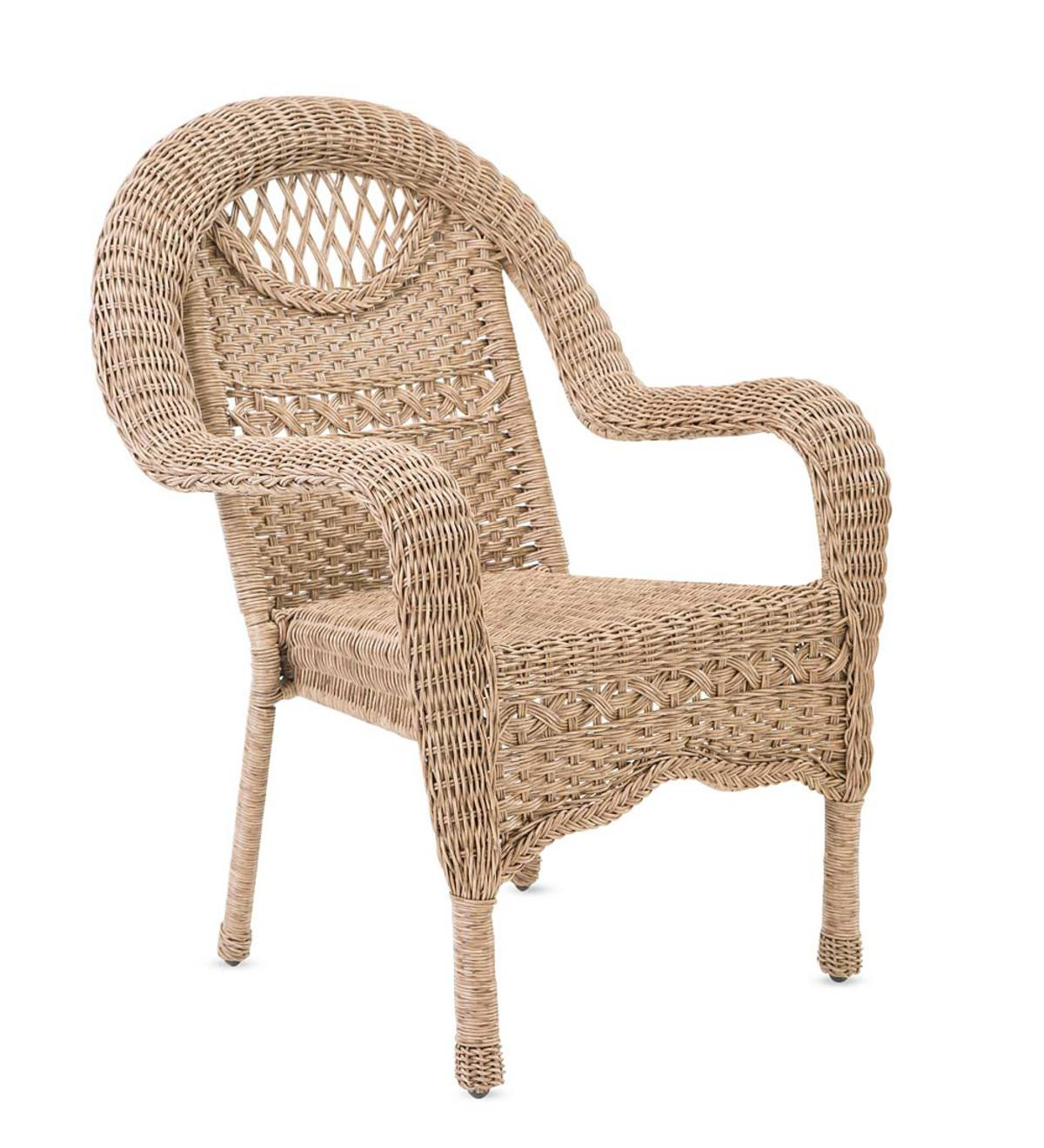 Newest Prospect Hill Wicker Chair In Prospect Hill Wicker Settee Benches (View 9 of 20)