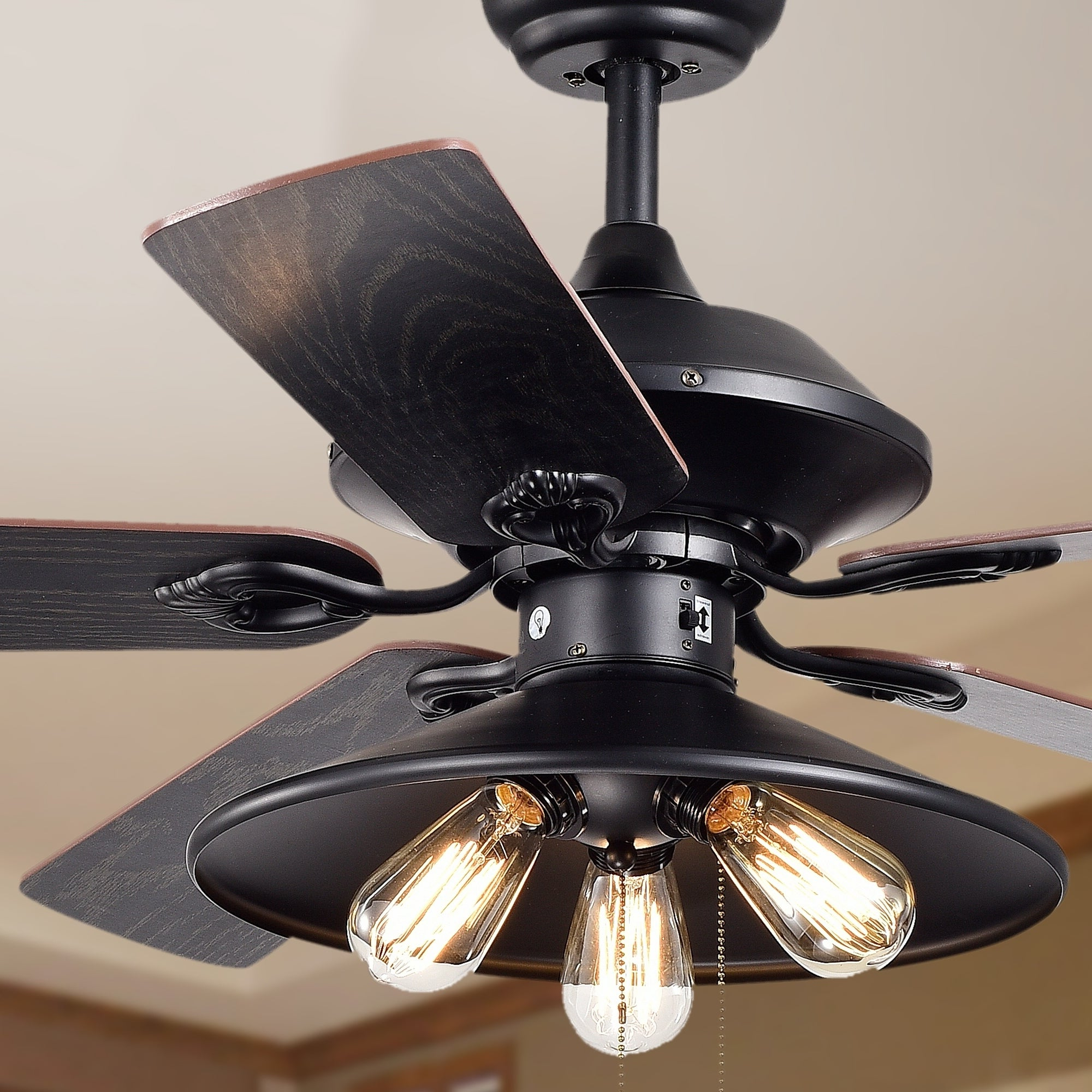 Newest Ratcliffe 5 Blade Led Ceiling Fans Within Free Edison Bulb Ceiling Fan Bennett With Ligh # (View 18 of 20)