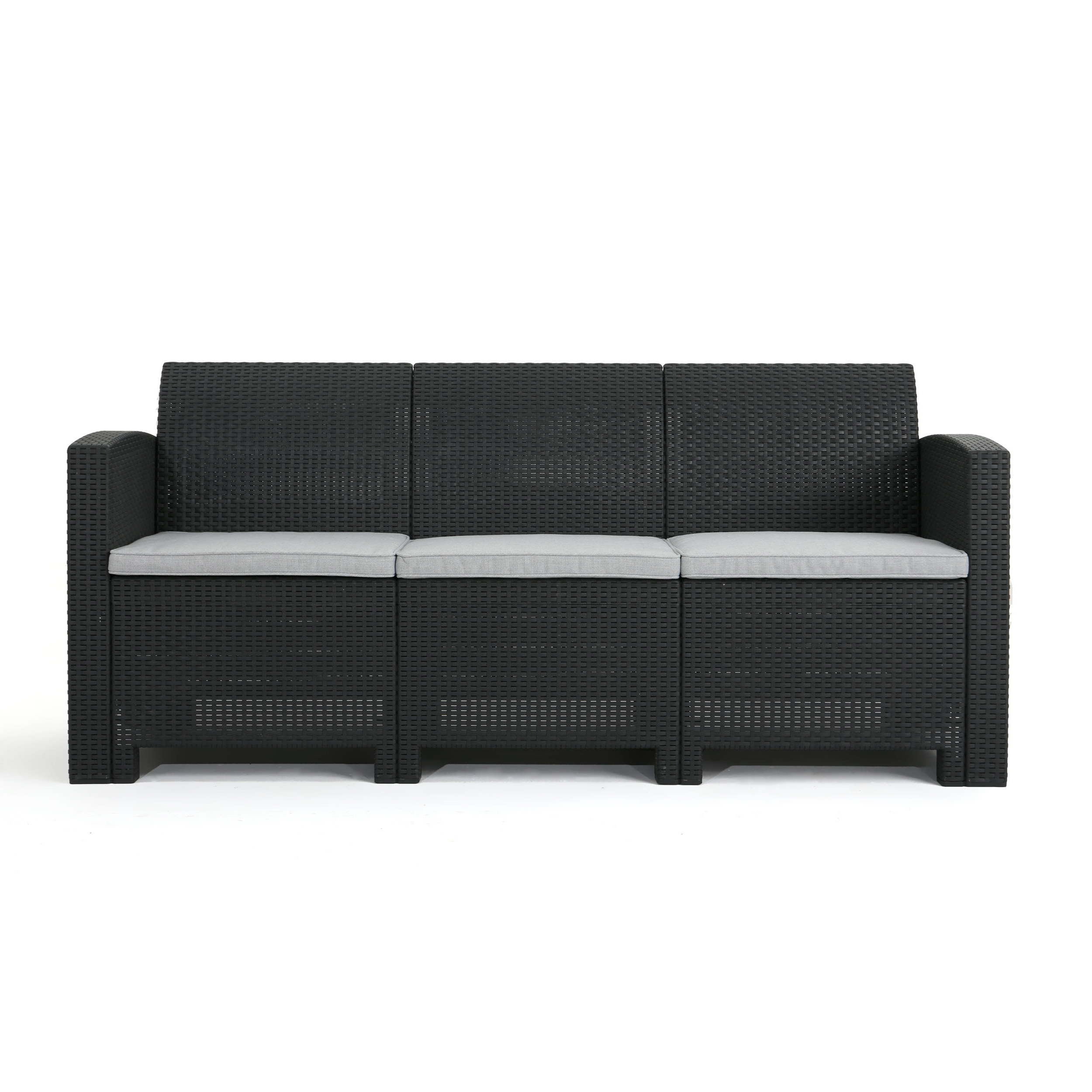 Newest Stockwell Patio Sofas With Cushions In Yoselin Patio Sofa With Cushions (View 10 of 20)