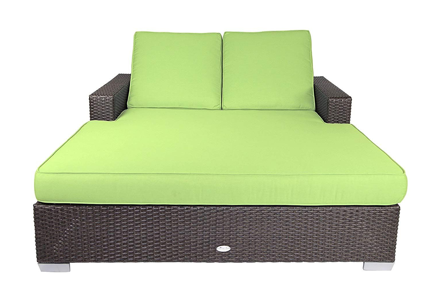 Newest Tripp Sofa With Cushions Within Amazon : Patio Heaven Sb C2 5421 Signature Double Chaise (View 13 of 20)