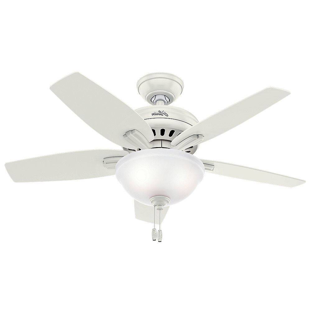 "Newsome 5 Blade Ceiling Fans Throughout Newest Details About Hunter Newsome 42 Bowl 42"" Indoor Ceiling Fan – 5 Reversible  Blades And Light (View 16 of 20)"
