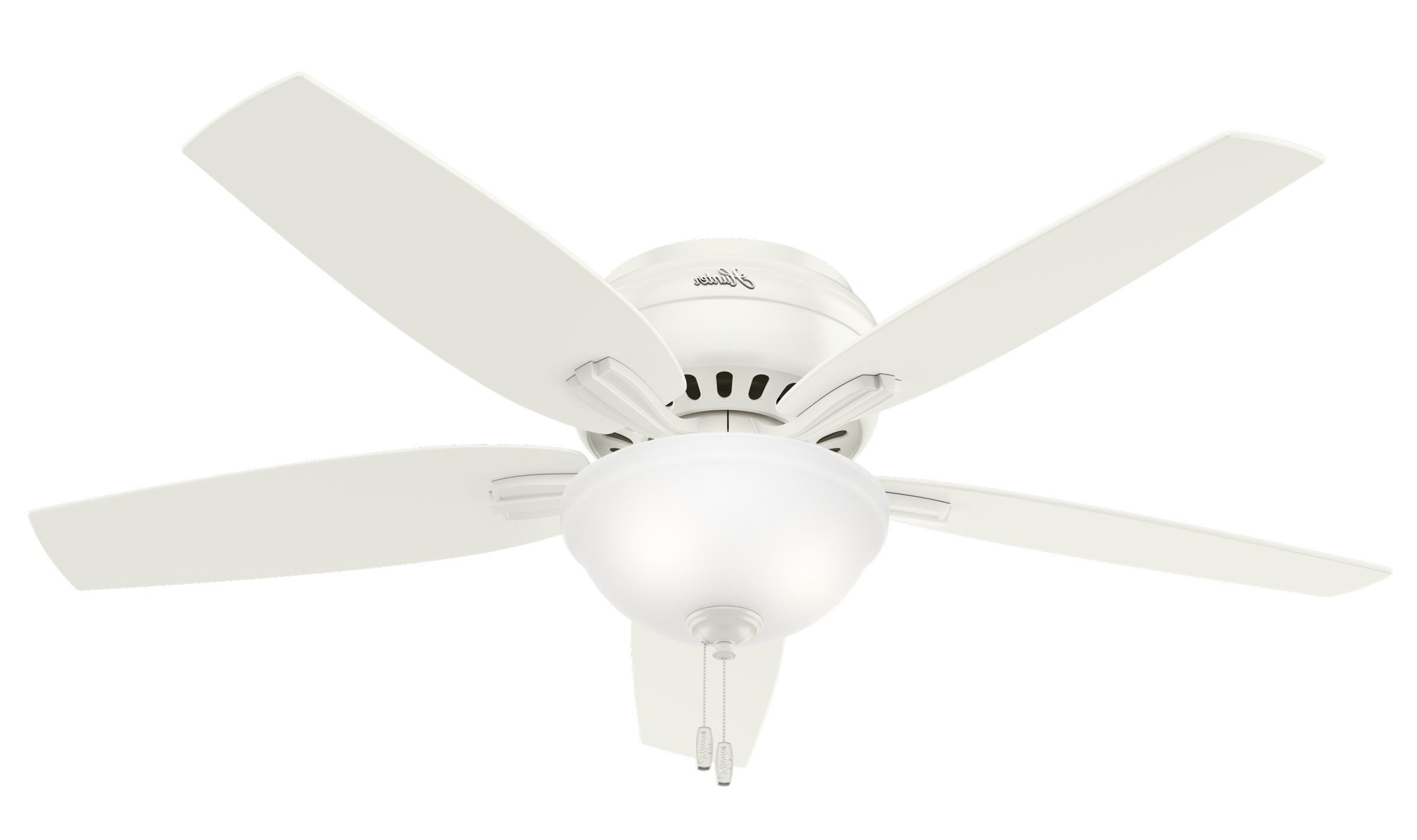 Newsome Low Profile 5 Blade Ceiling Fans In Well Known Hunter Newsome 52 Low Profile With Bowl Light Ceiling Fan (View 16 of 20)