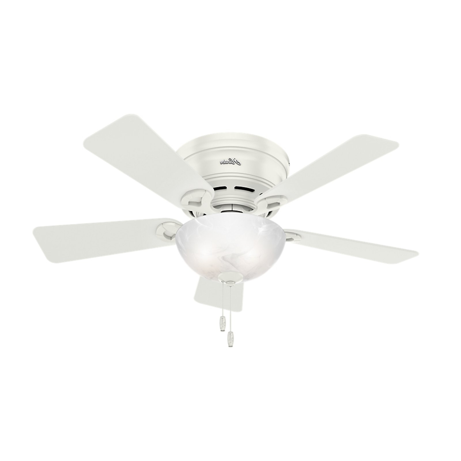 Newsome Low Profile 5 Blade Ceiling Fans Inside Current Hunter 42 In (View 9 of 20)