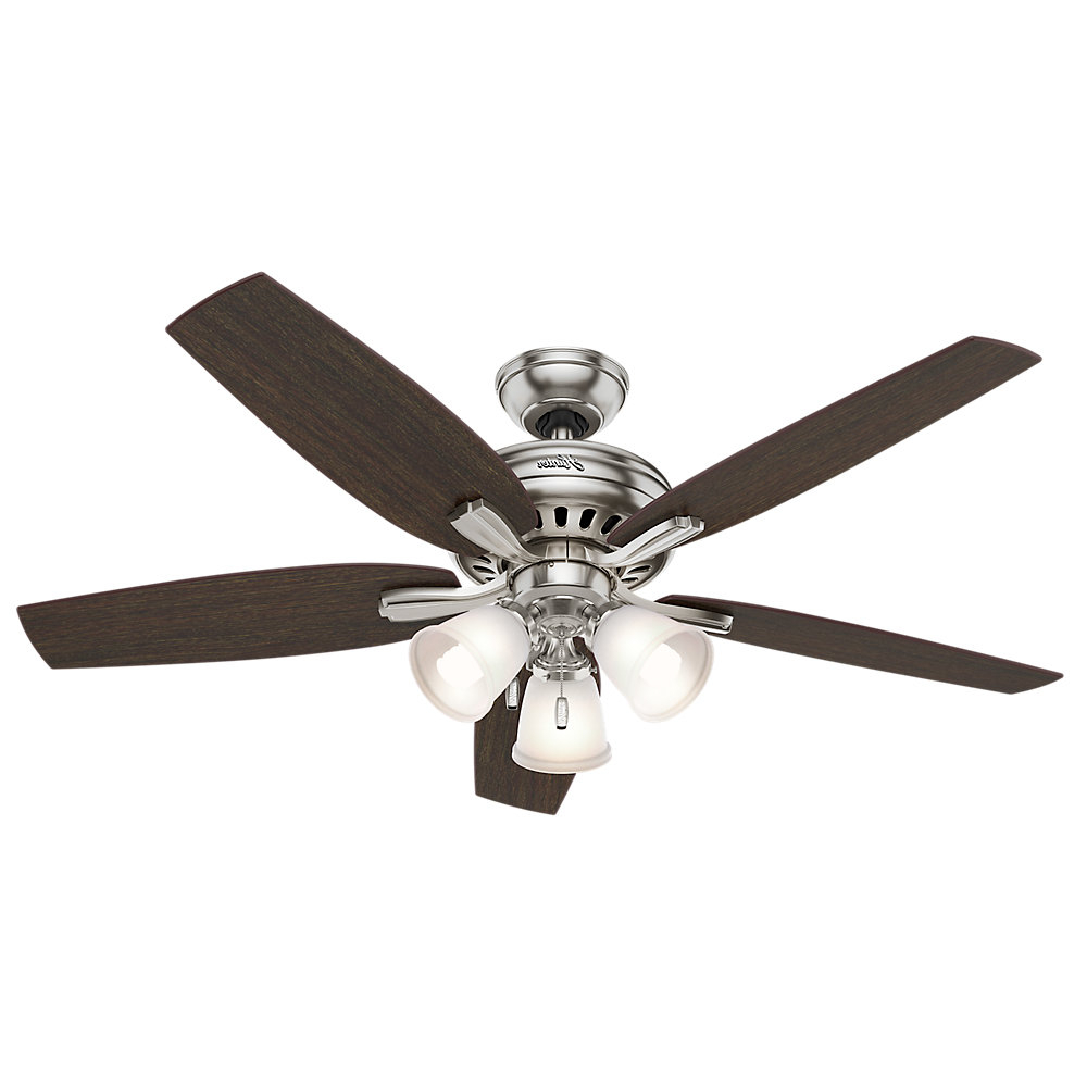 "Newsome Low Profile 5 Blade Ceiling Fans With Regard To Best And Newest 52"" Newsome 5 Blade Ceiling Fan, Light Kit Included (View 9 of 20)"