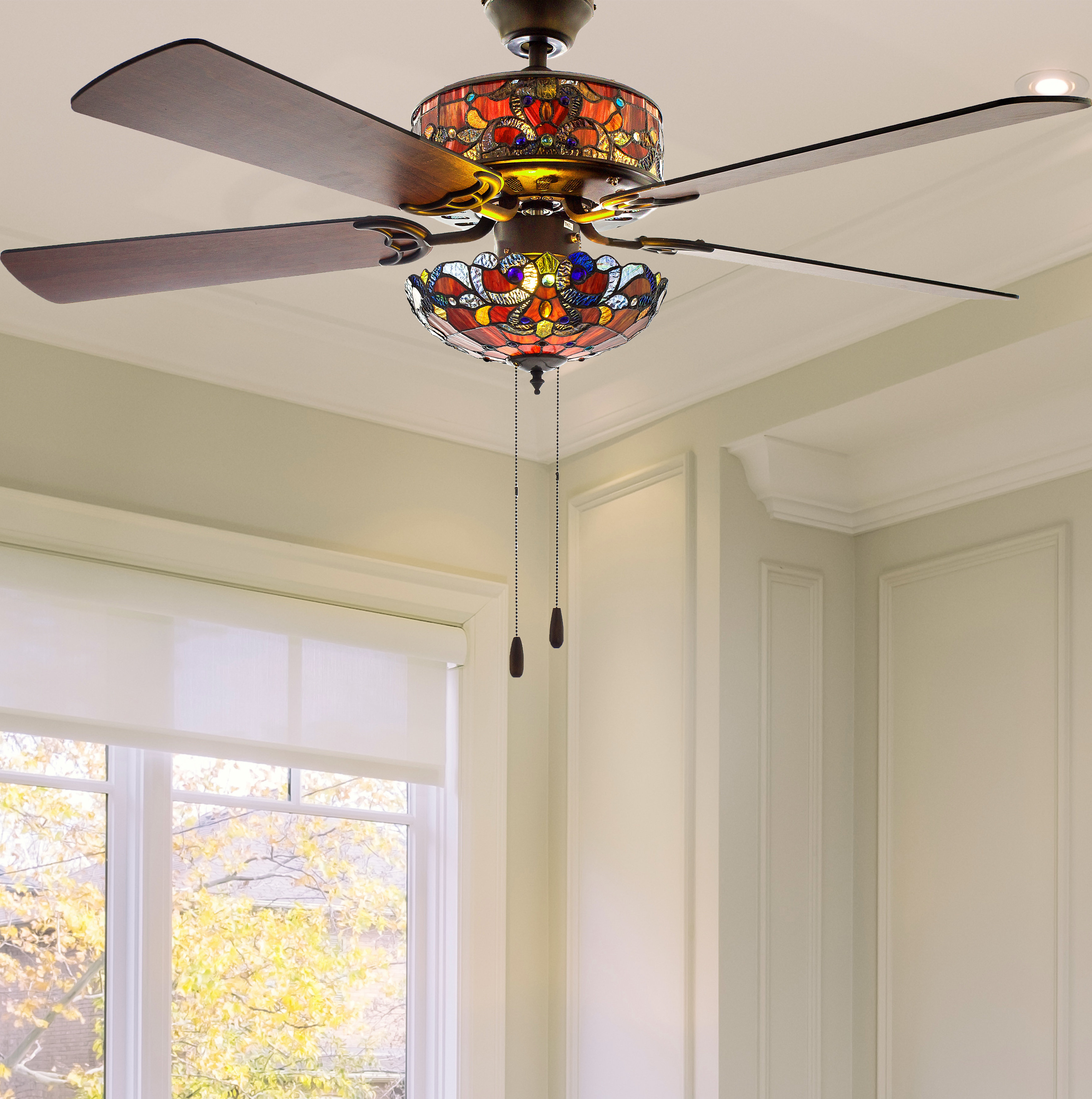 """Njie Caged Crystal 5 Blade Ceiling Fans In 2019 52"""" Nevels 5 Blade Ceiling Fan With Remote, Light Kit Included (View 16 of 20)"""