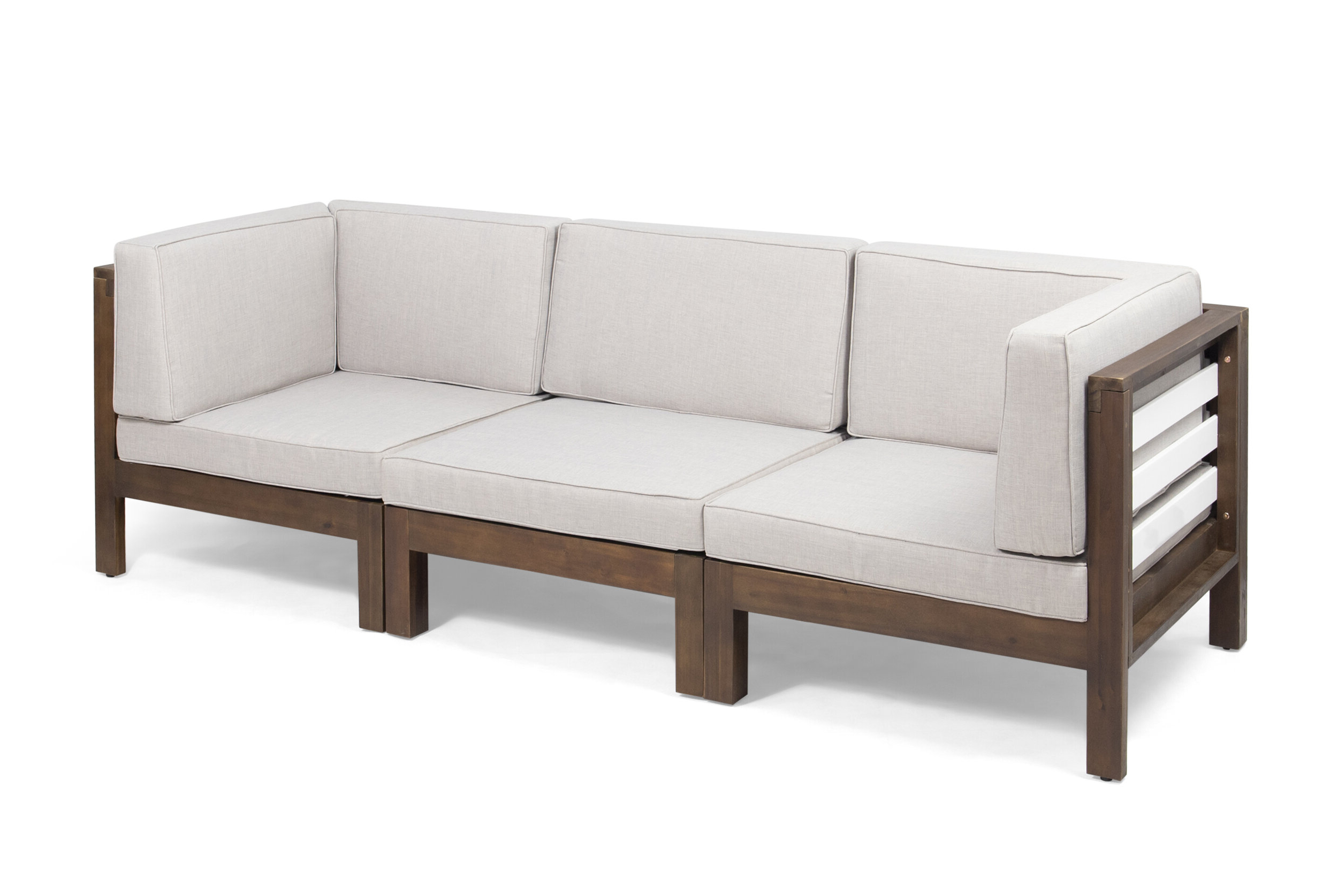 Nolen Patio Sectionals With Cushions Inside Trendy Parnell Outdoor Modular Patio Sofa With Cushions (View 9 of 20)