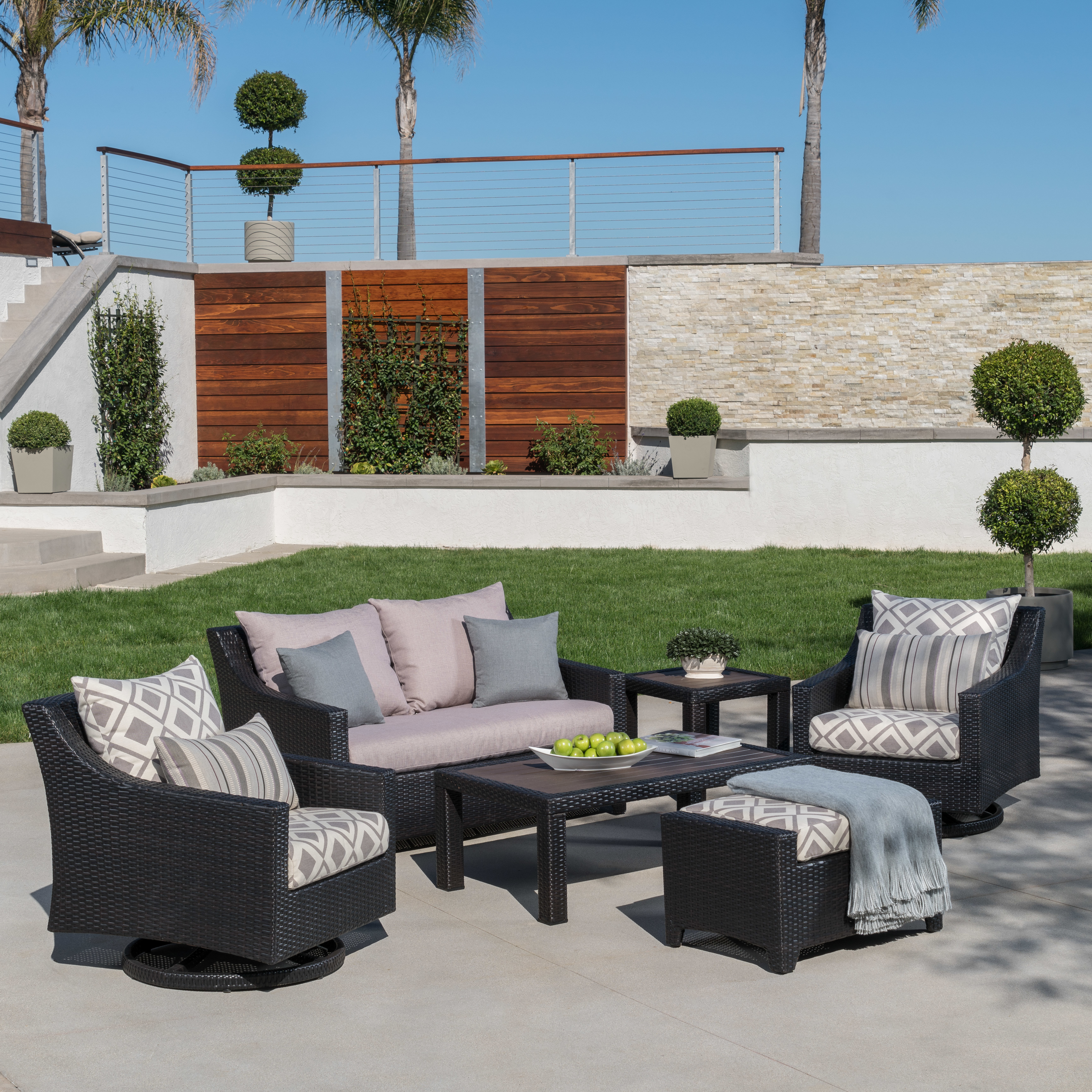 Northridge 6 Piece Sunbrella Sofa Set With Cushions With Most Recently Released Northridge Patio Sofas With Sunbrella Cushions (View 10 of 20)