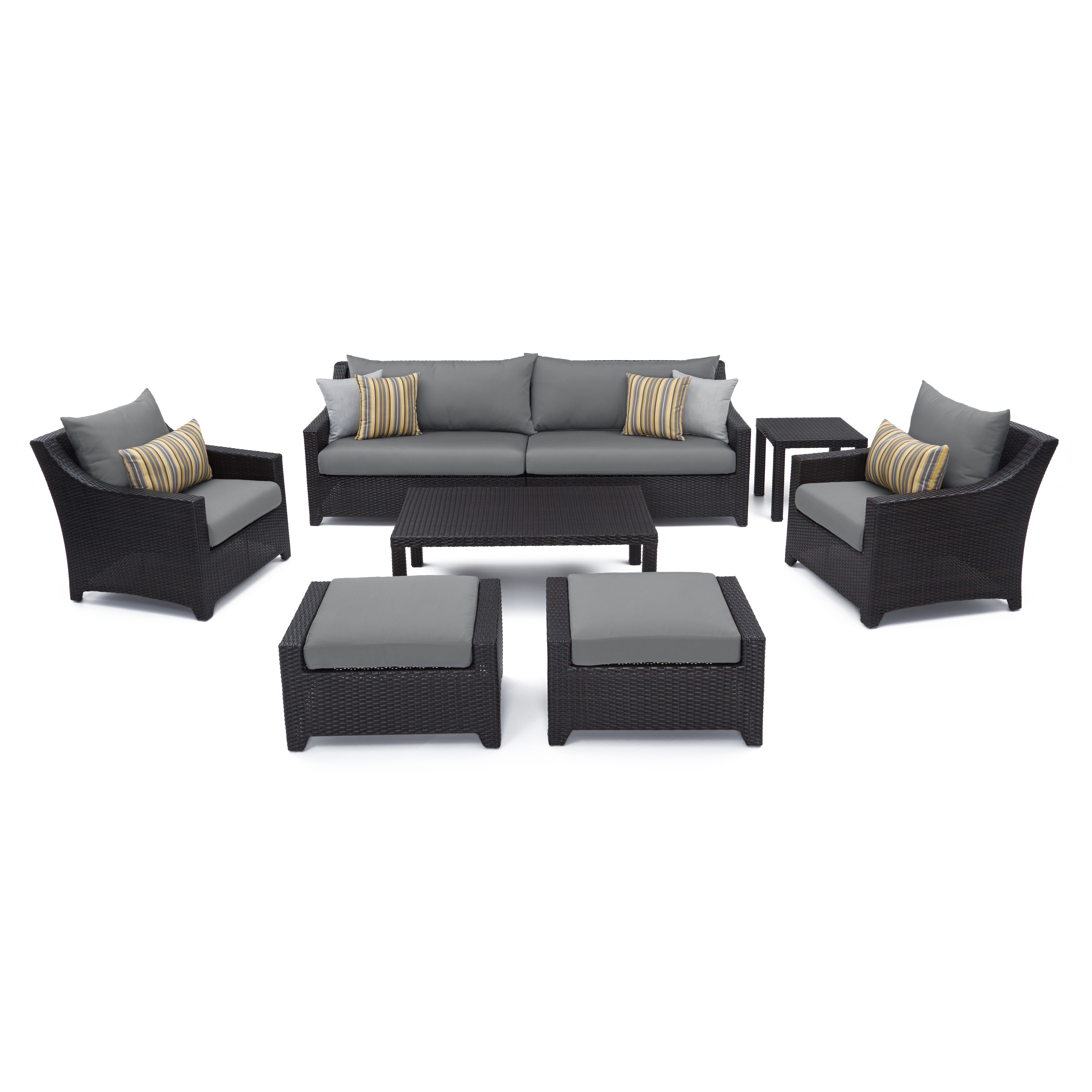 Northridge 8 Piece Sofa Seating Group With Sunbrella Cushions Within Popular Northridge Patio Sofas With Sunbrella Cushions (View 11 of 20)