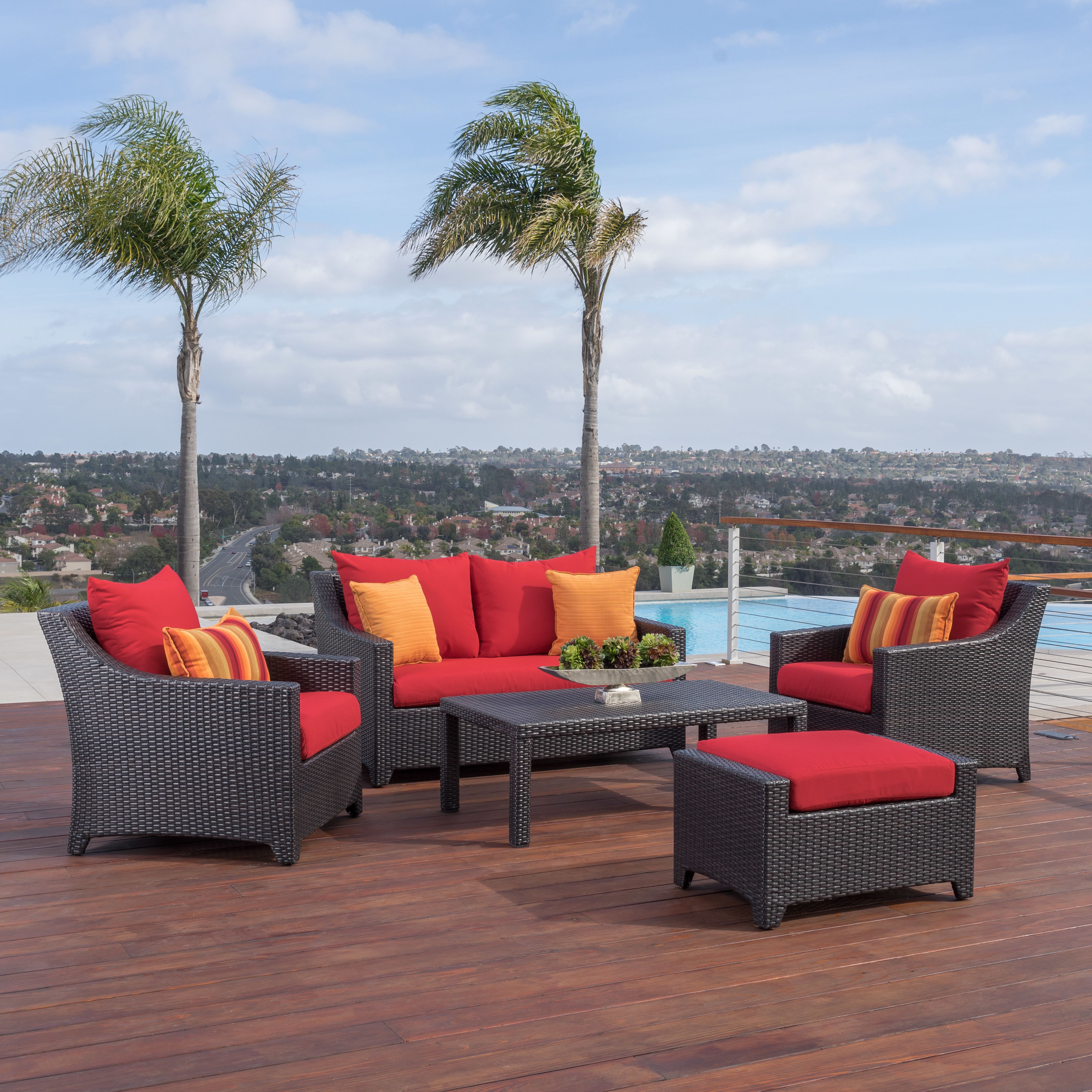 Northridge Loveseats With Cushions With Regard To Well Liked Northridge 5 Piece Sunbrella Sofa Set With Cushions (View 15 of 20)