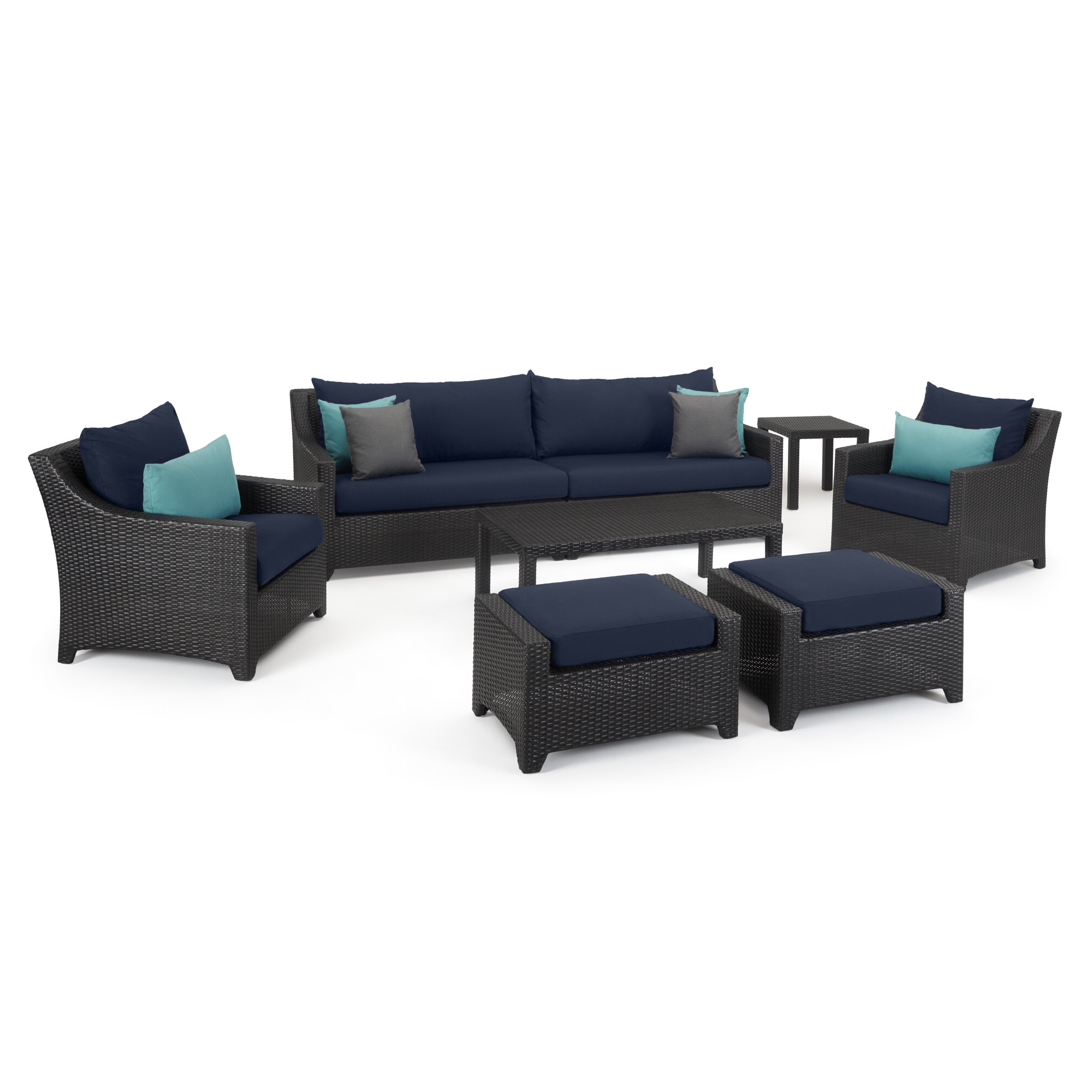 Northridge Loveseats With Cushions Within 2019 Northridge 8 Piece Sofa Set With Cushions (View 9 of 20)